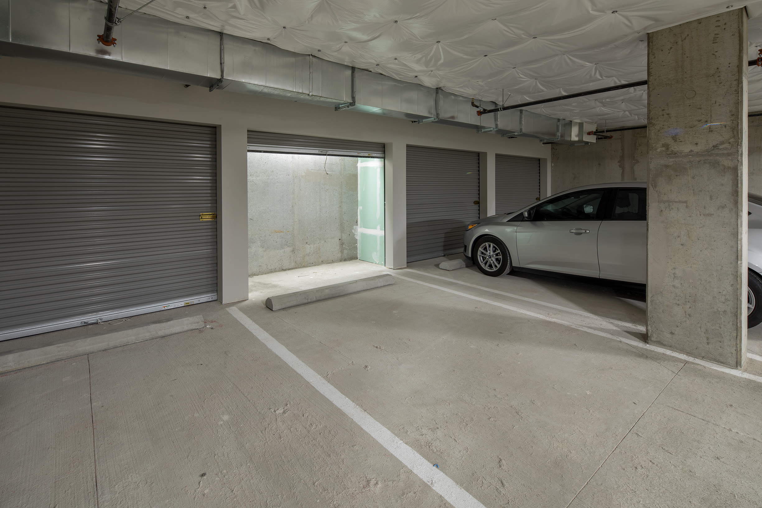 Covered parking at Ascend in Portland, OR
