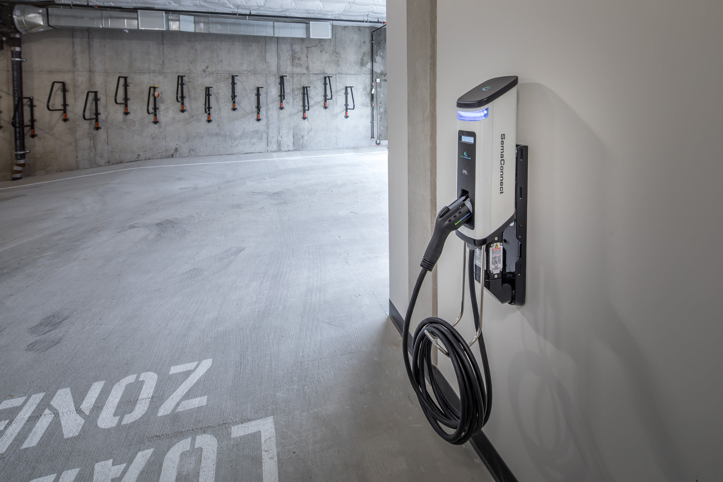 Charging station at Ascend in Portland, OR