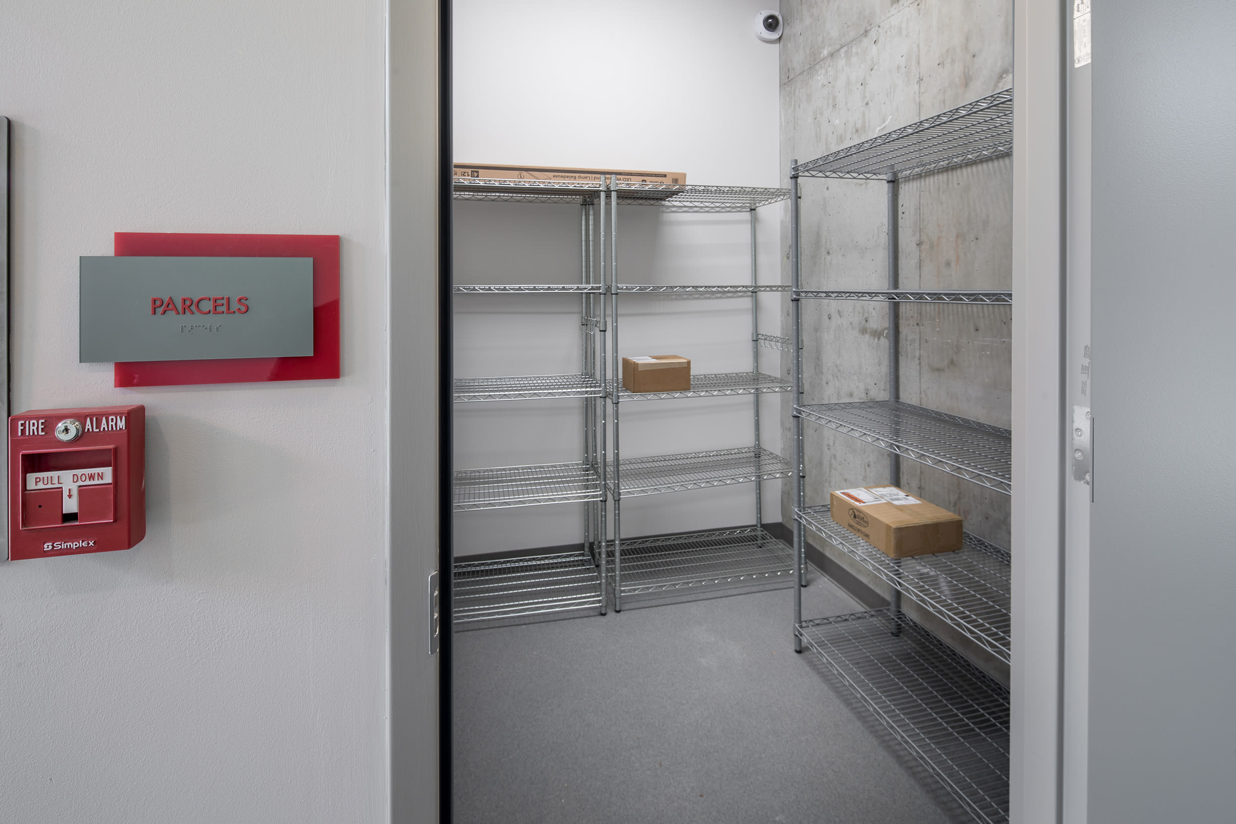 The package room at Ascend in Portland, OR