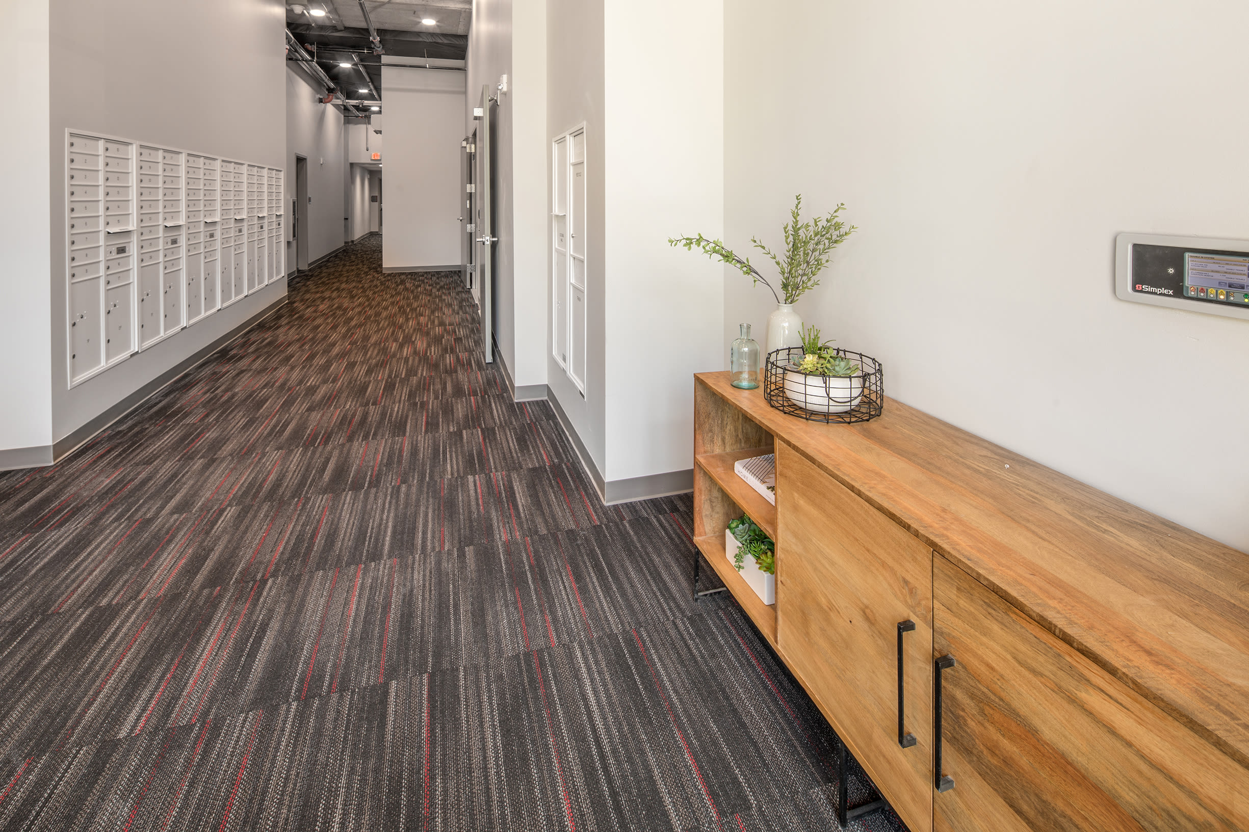 Community hallway at Ascend in Portland, OR
