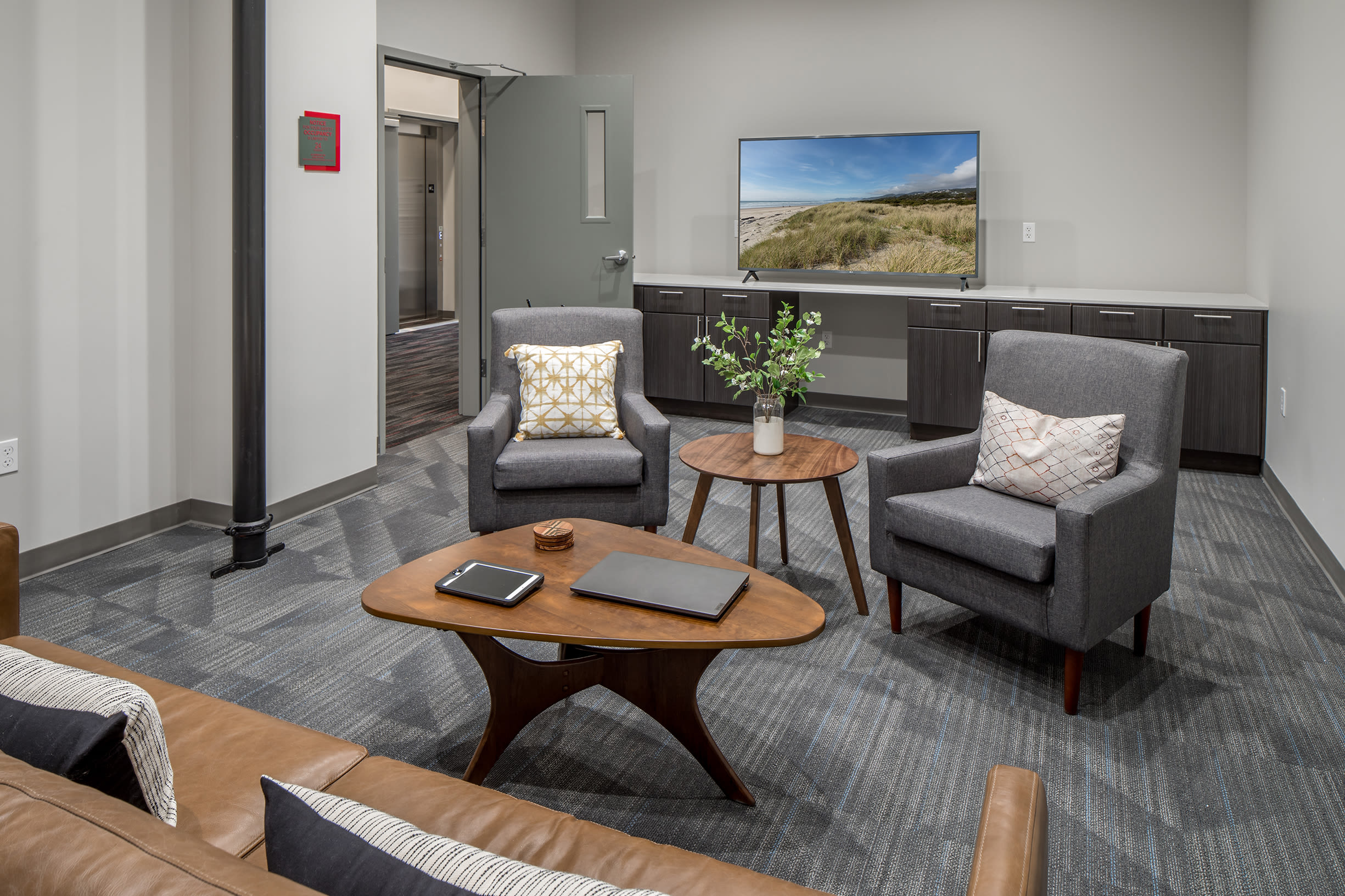 A seating area at Ascend in Portland, OR
