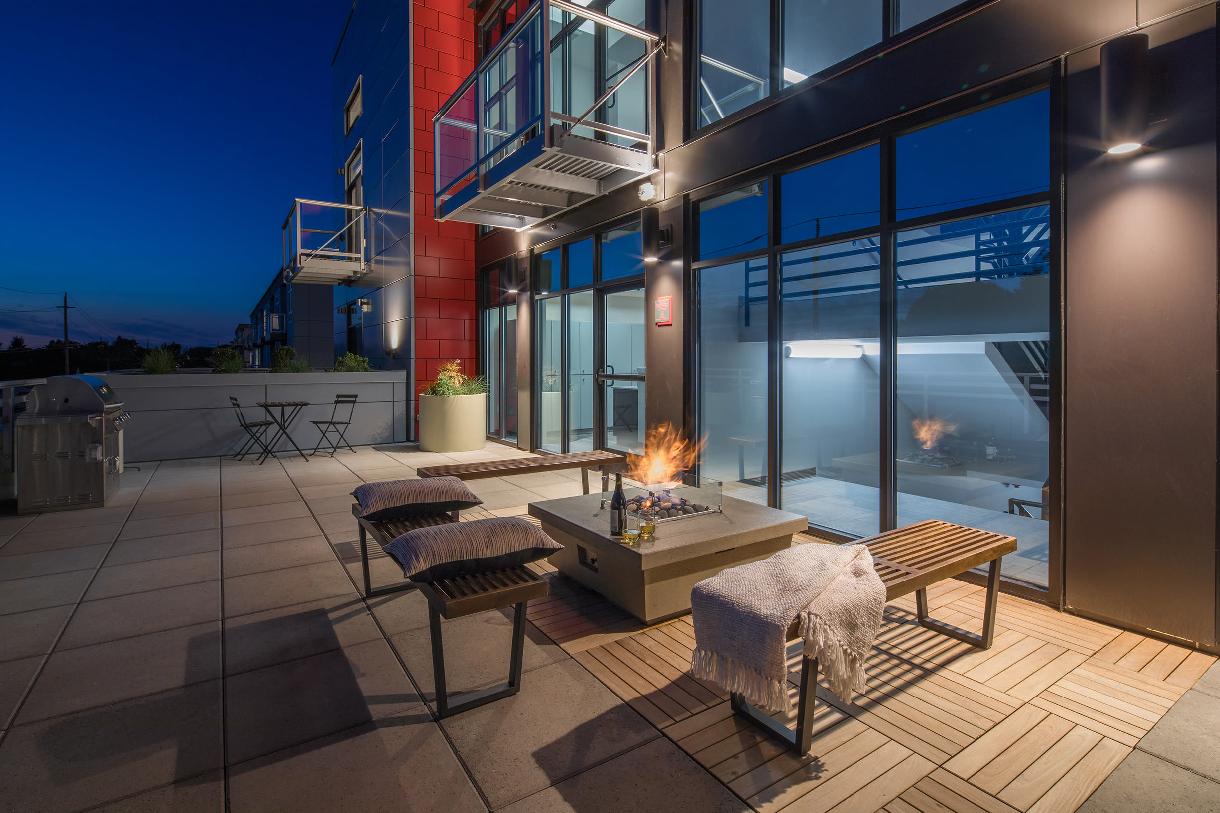 Outdoor space at Ascend in Portland, OR