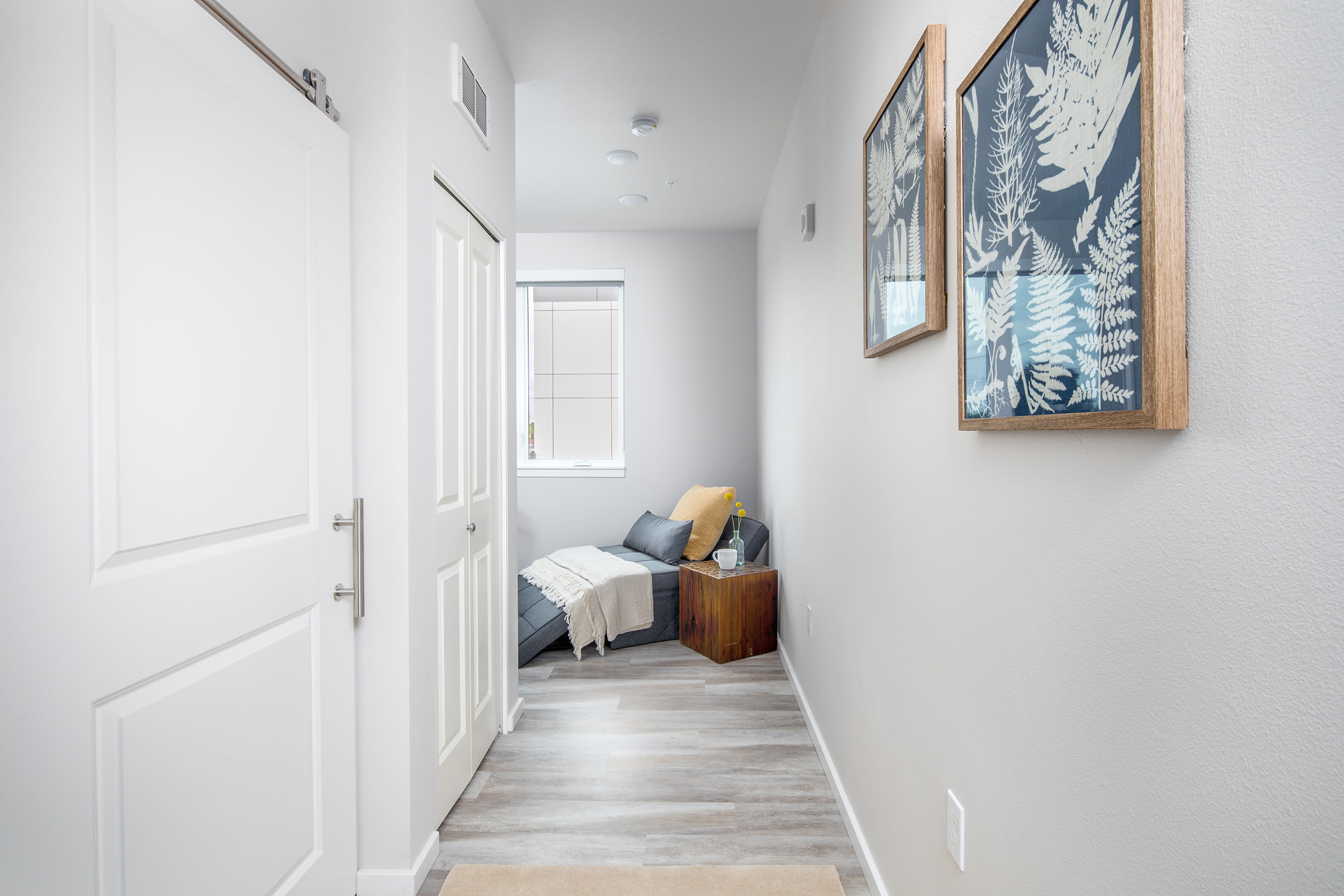 An apartment hallway at Ascend in Portland, OR