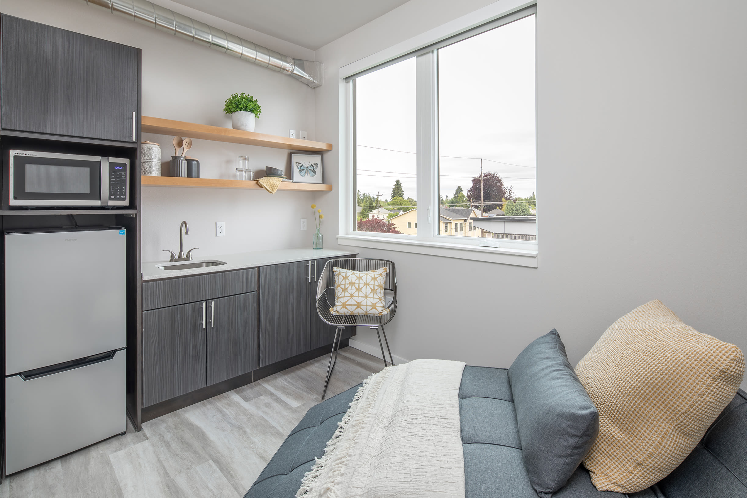 A streamlined apartment layout at Ascend in Portland, OR