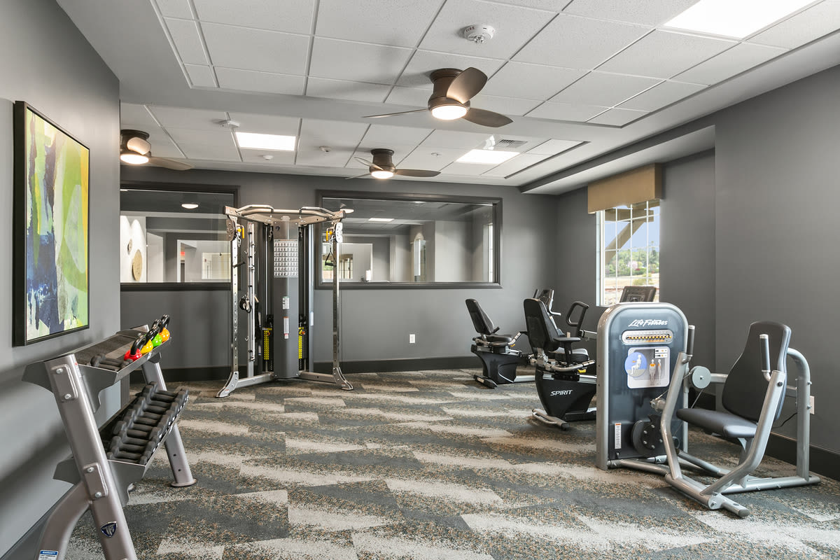 Gym at Estancia Senior Living in Fallbrook, California