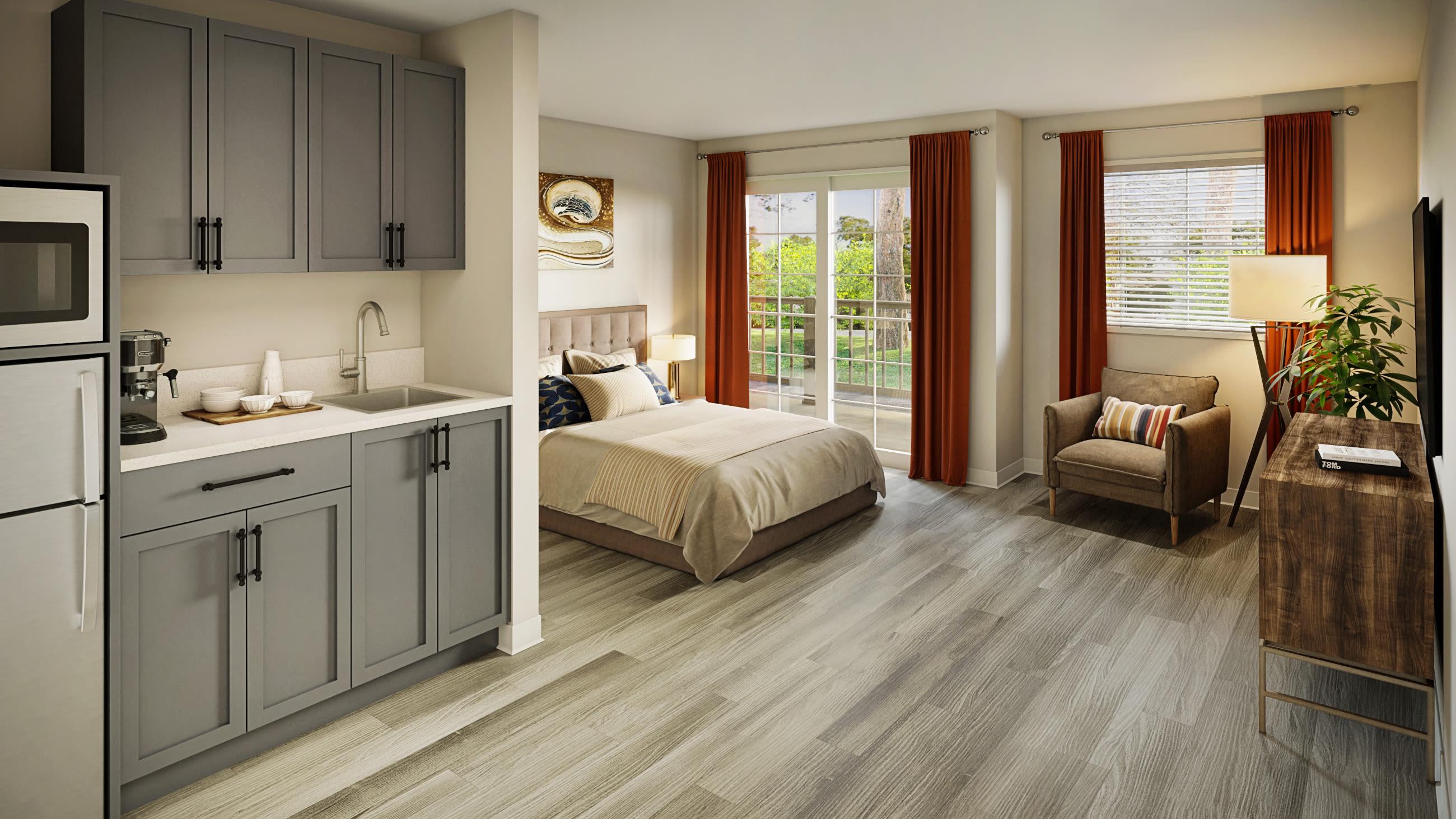 A beautiful living space at Del Obispo Terrace Senior Living