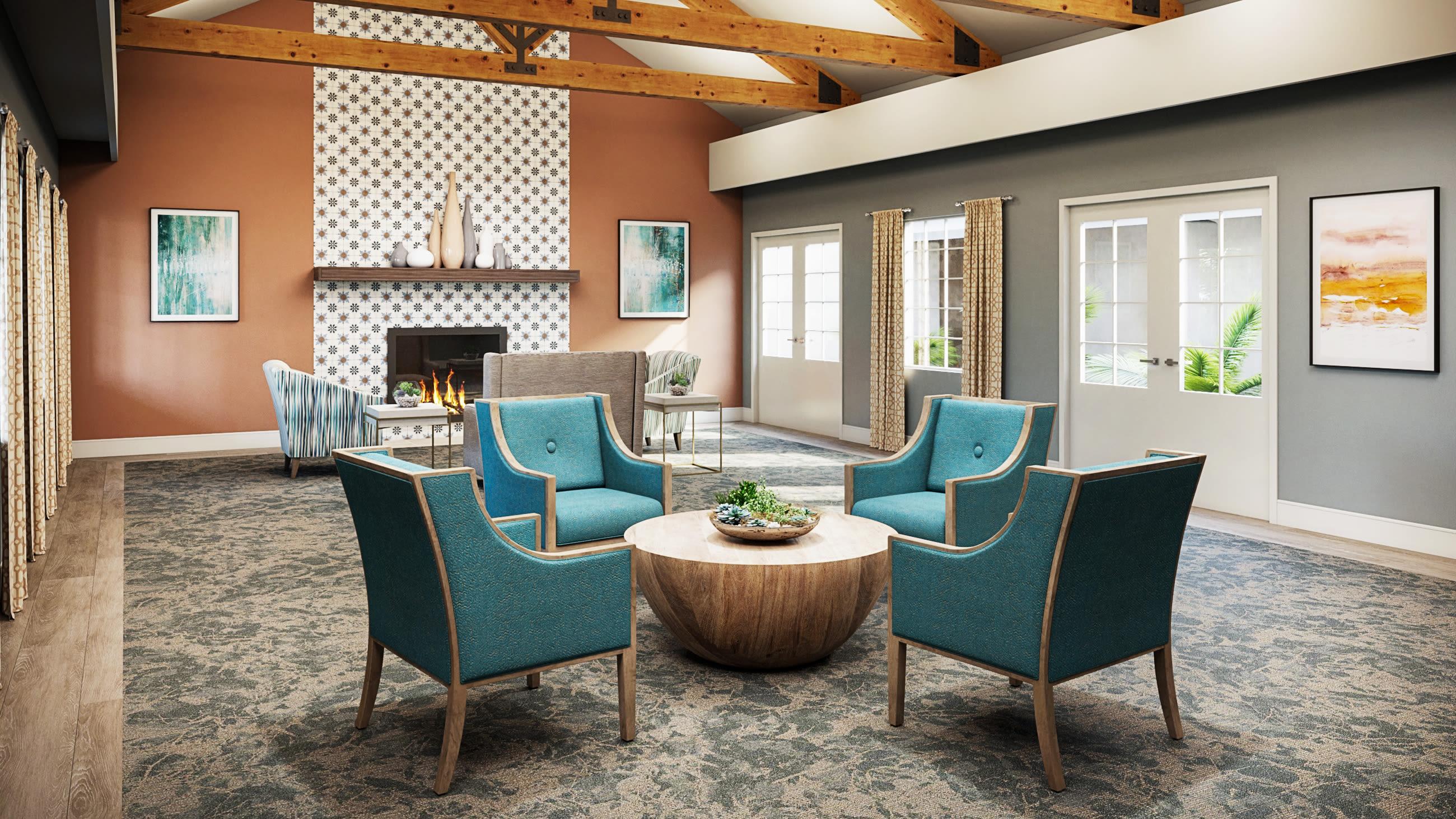 Common area at Del Obispo Terrace Senior Living