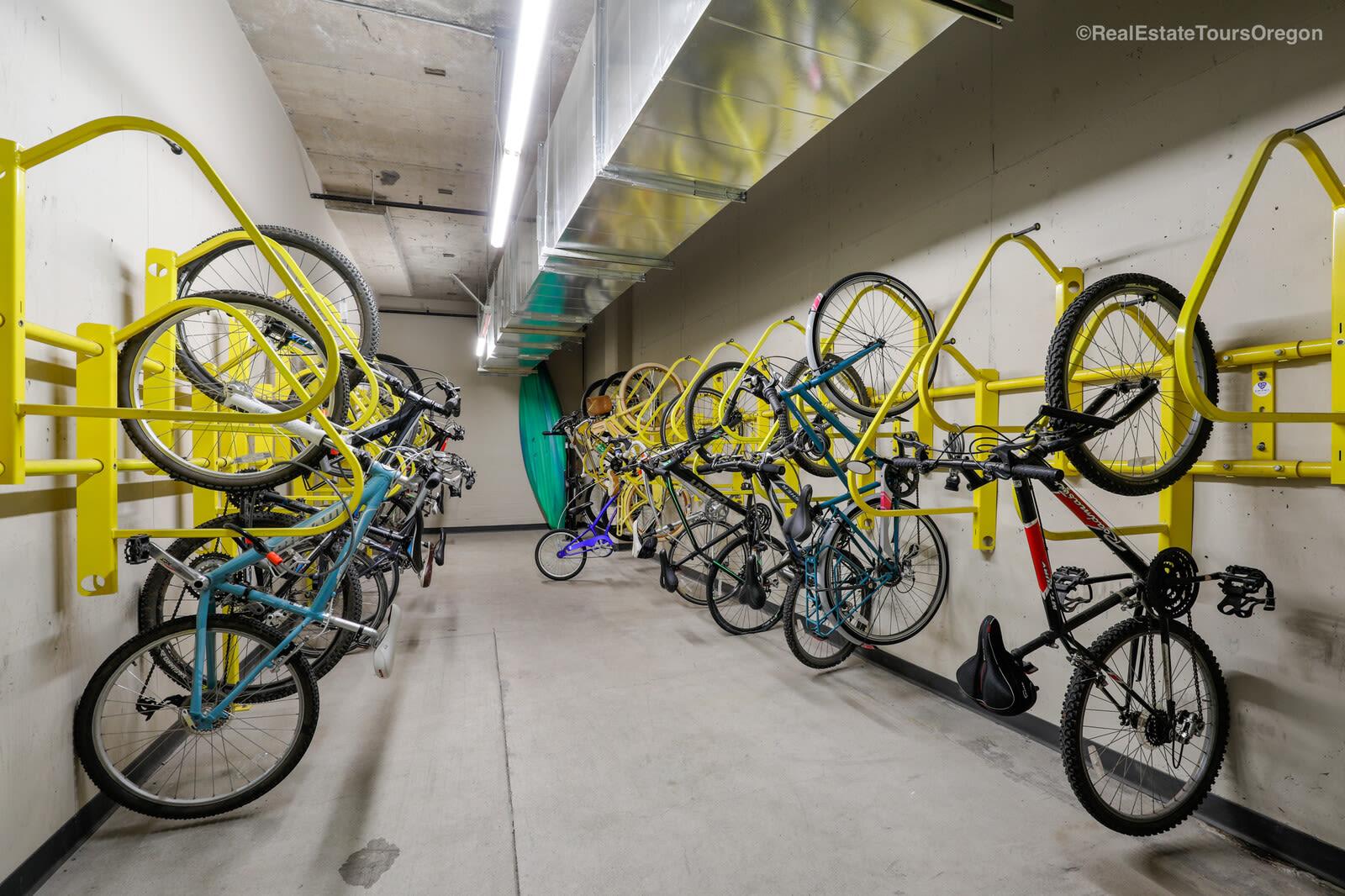 Bike storage at South Block Apartments in Salem, OR