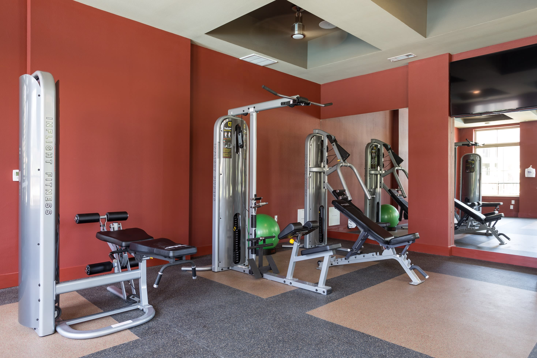 Alternate view of fitness equipment at Encore 281 in San Antonio, Texas
