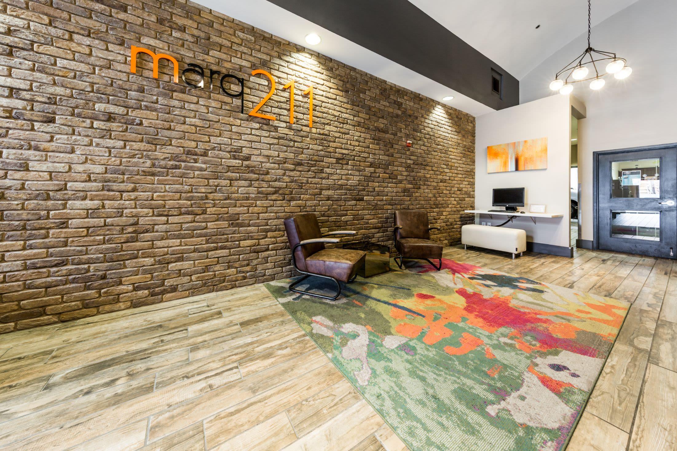 Lobby at Marq 211 in Seattle, Washington