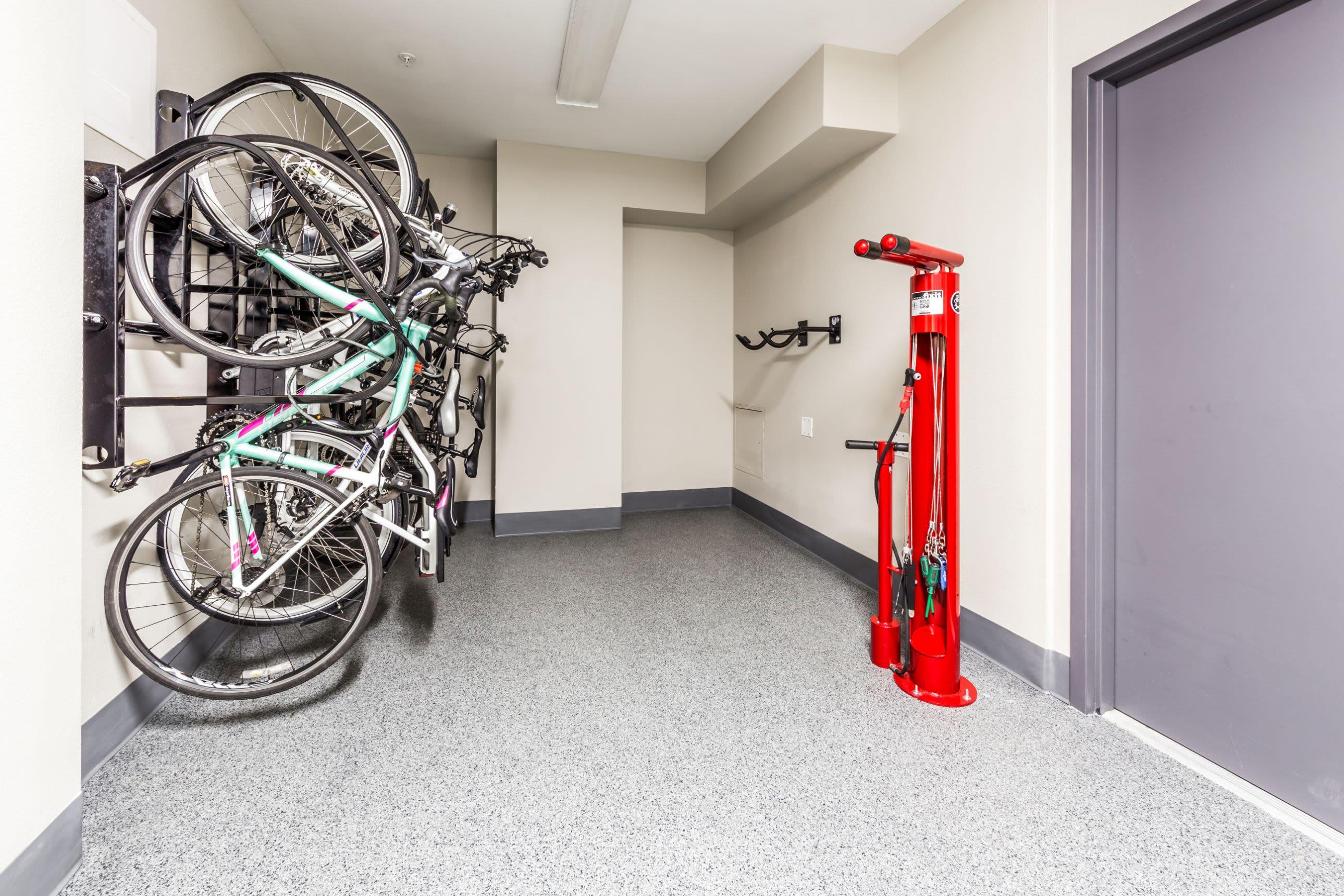 Bike storage at Marq 211 in Seattle, Washington