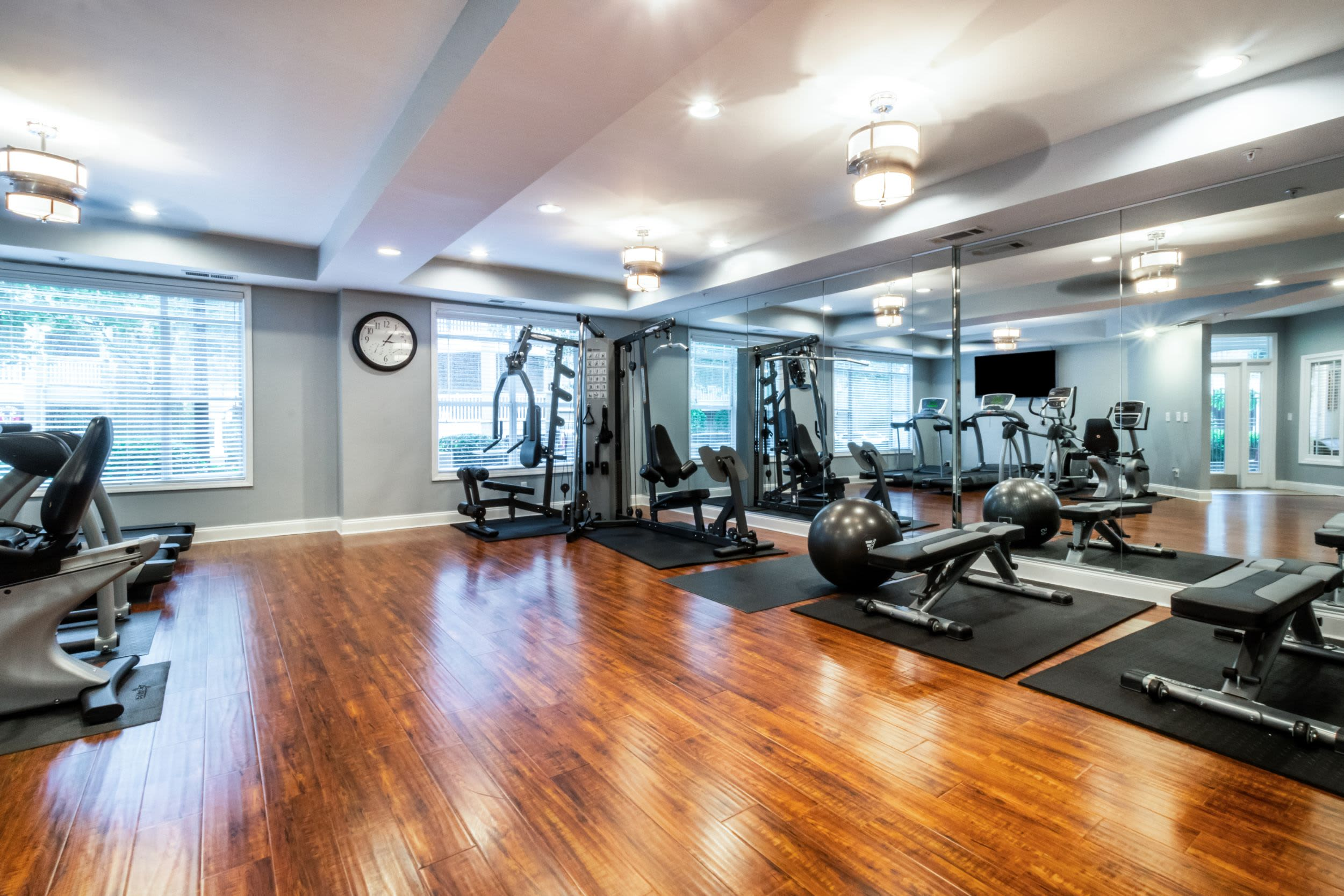 Fitness center at Marquis Midtown West in Atlanta, Georgia
