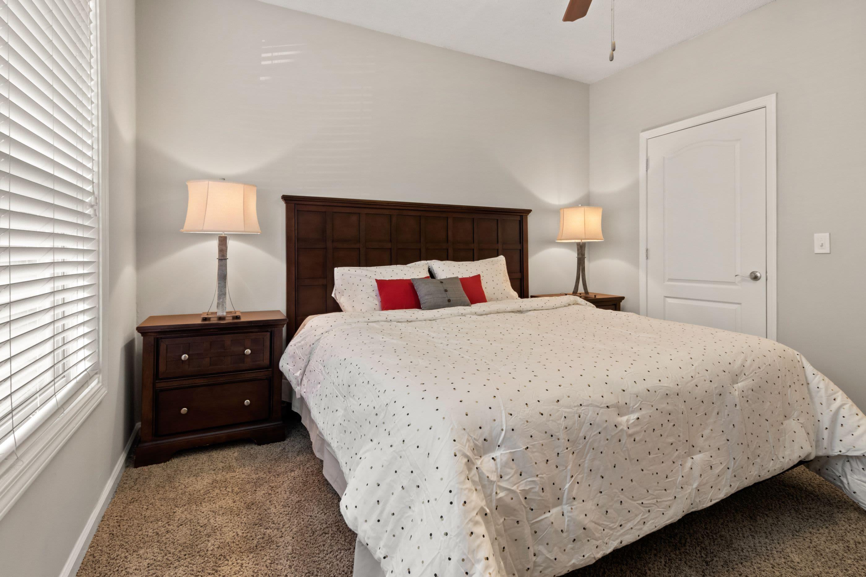 Bright bedroom at Marquis Midtown West in Atlanta, Georgia