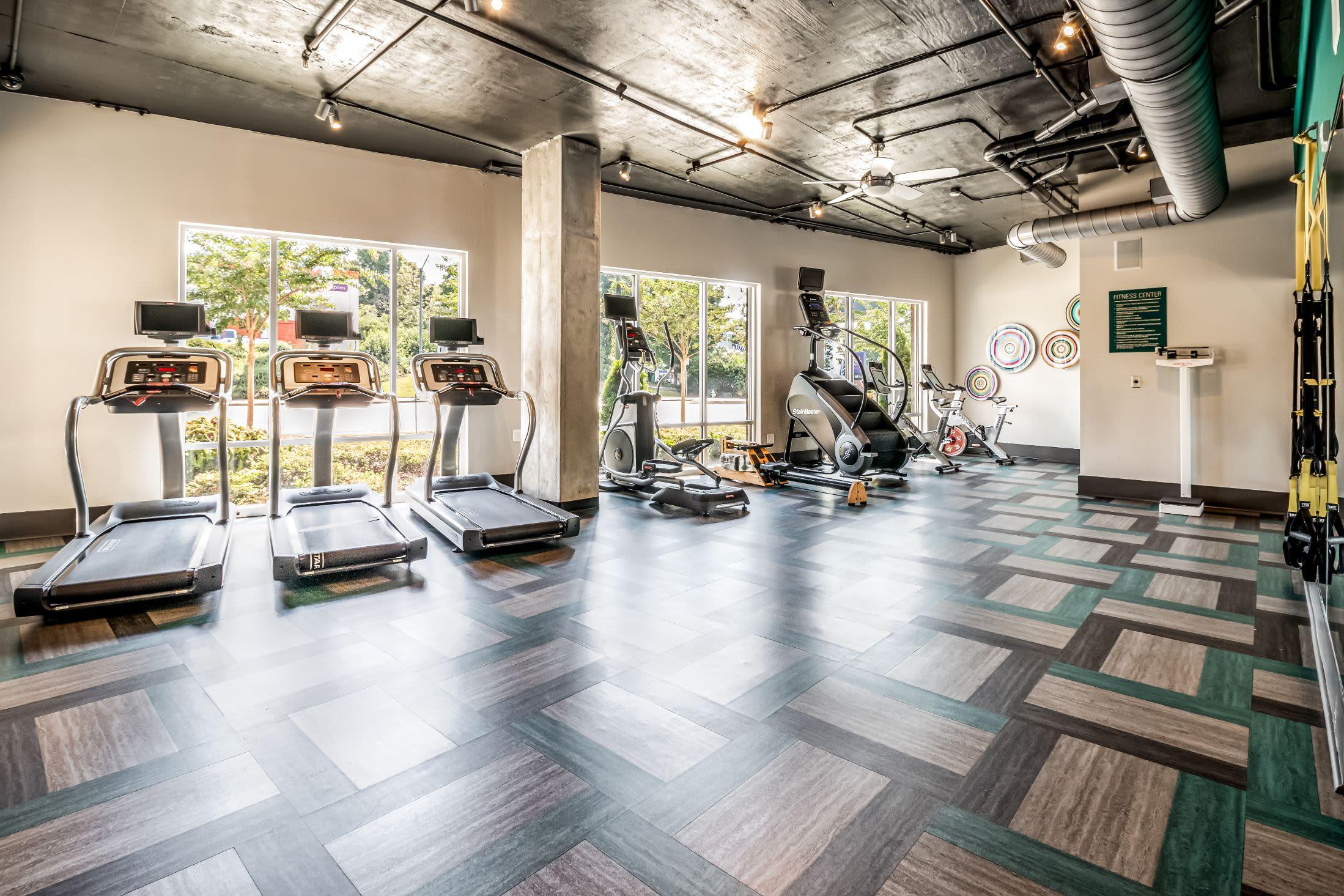 Large fitness center at Skyline West in Atlanta, Georgia