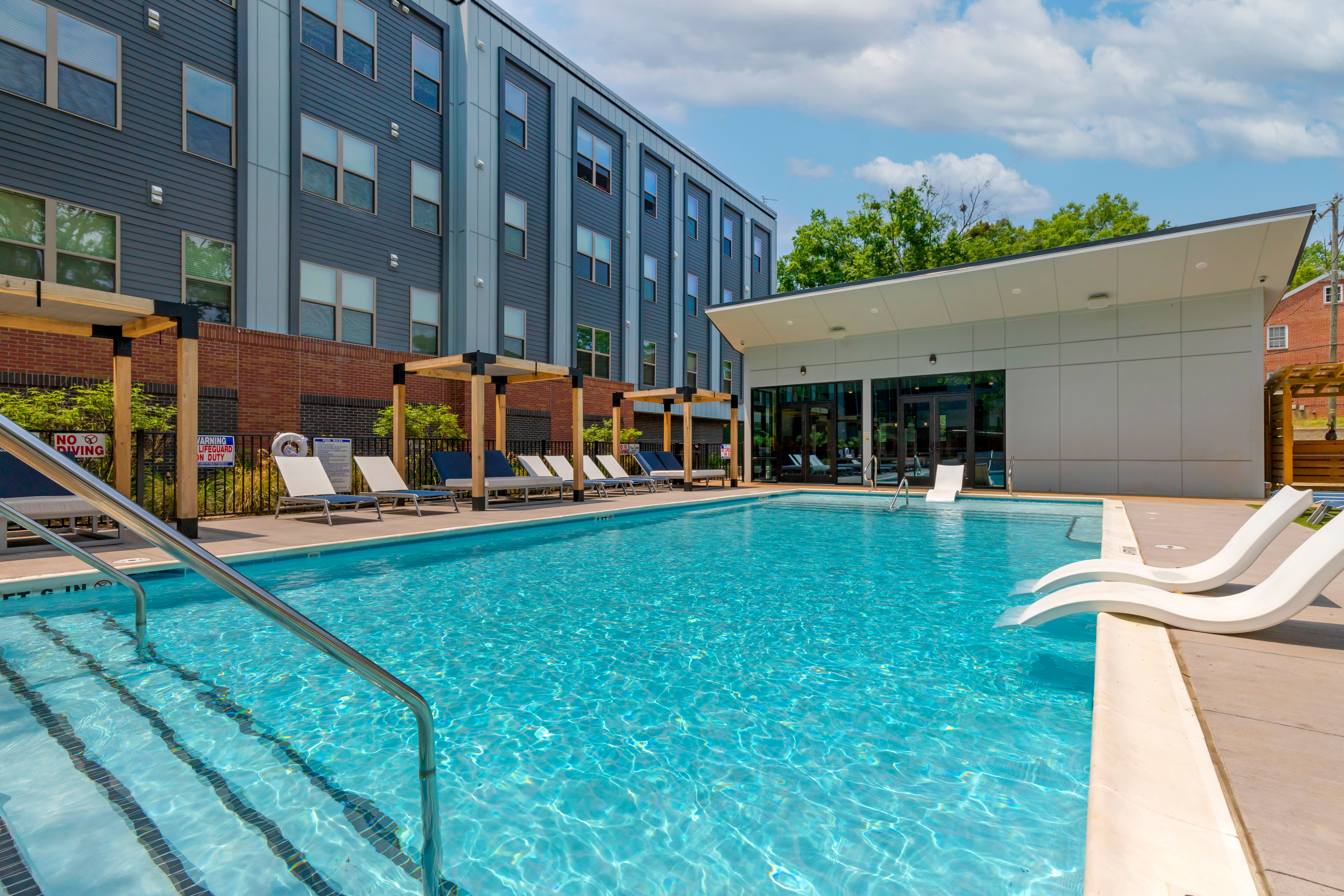 Swimming pool at UNCOMMON Raleigh in Raleigh, North Carolina