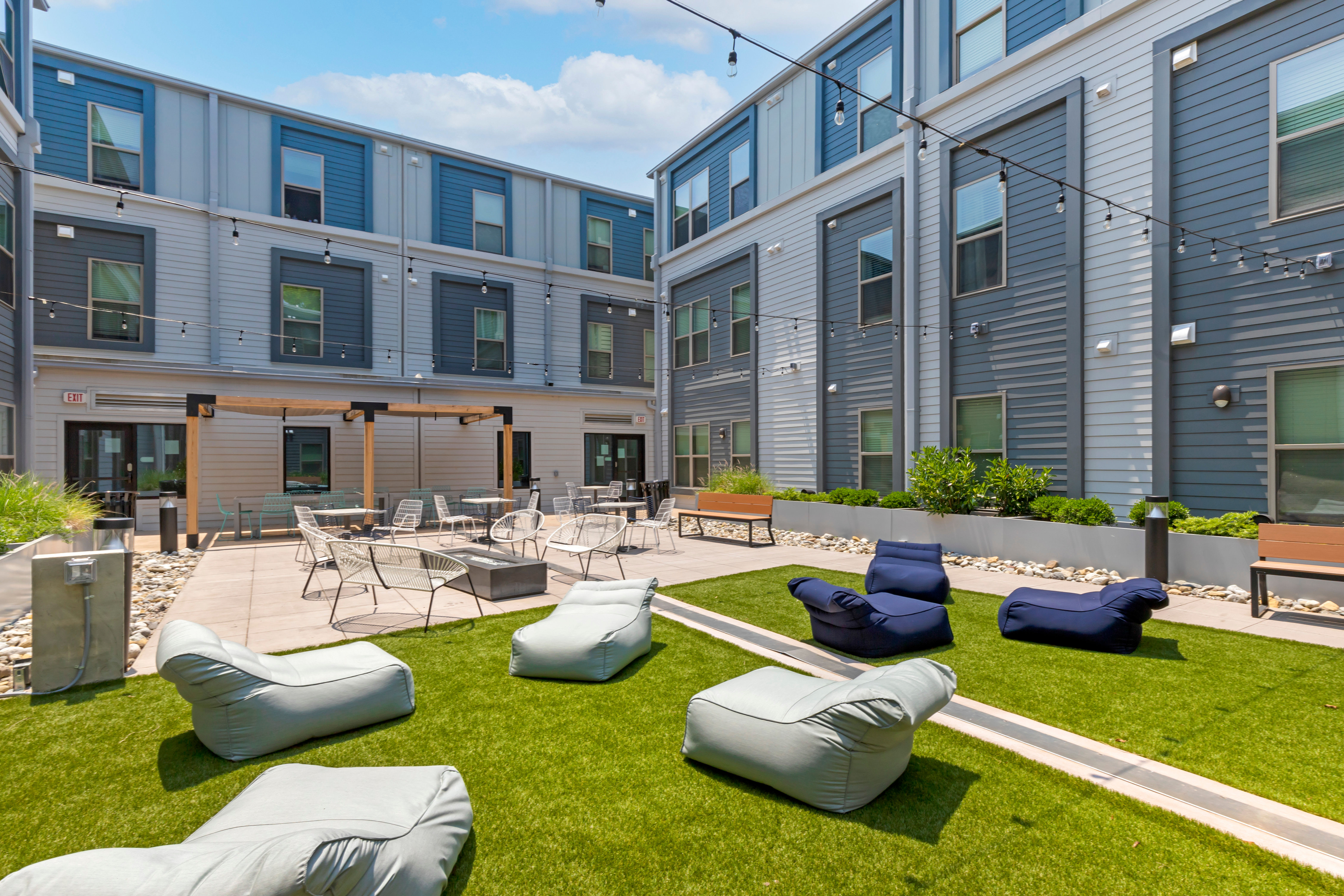 Outdoor fitness deck at UNCOMMON Raleigh in Raleigh, North Carolina