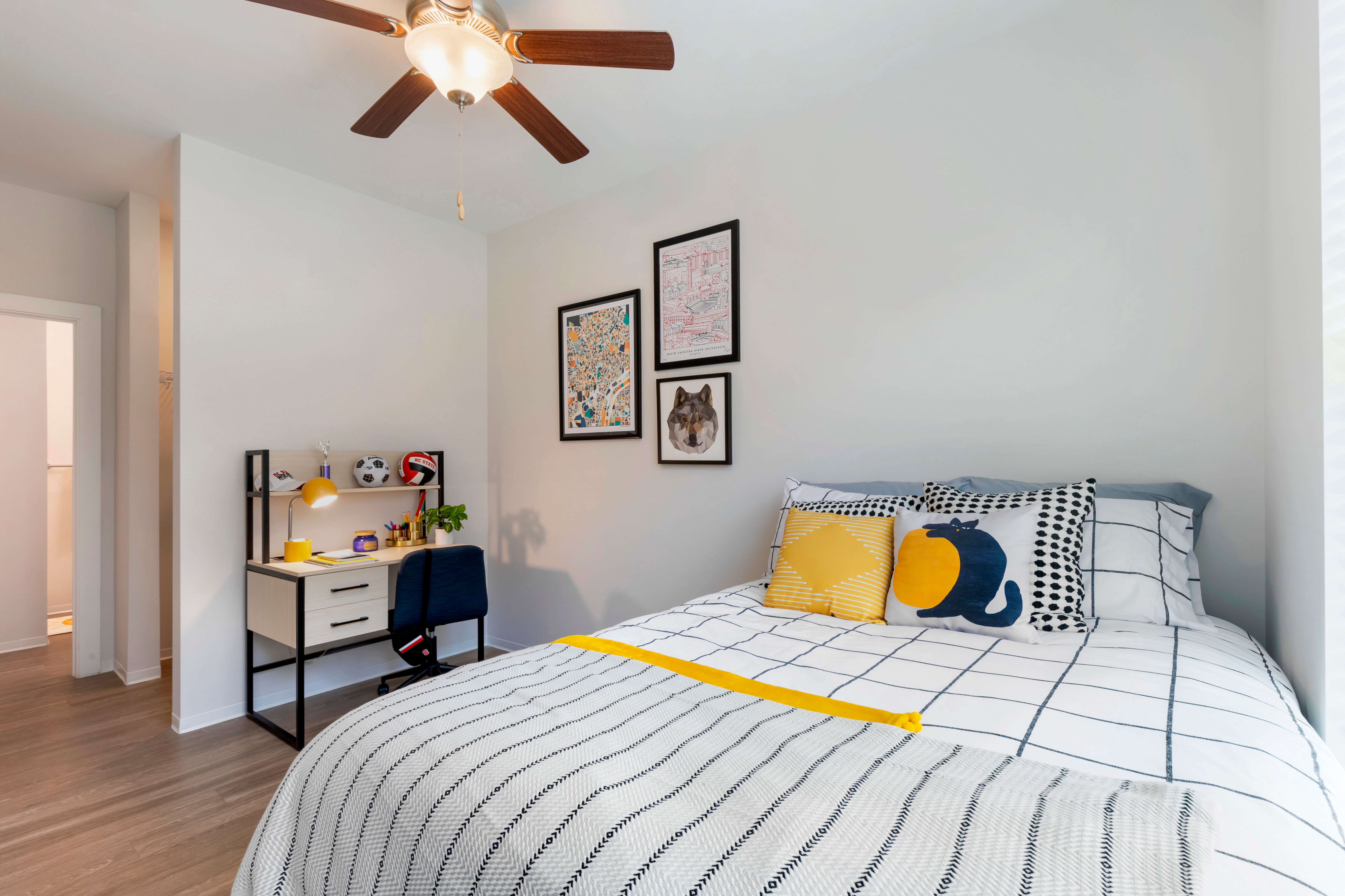 Spacious bedroom at UNCOMMON Raleigh in Raleigh, North Carolina