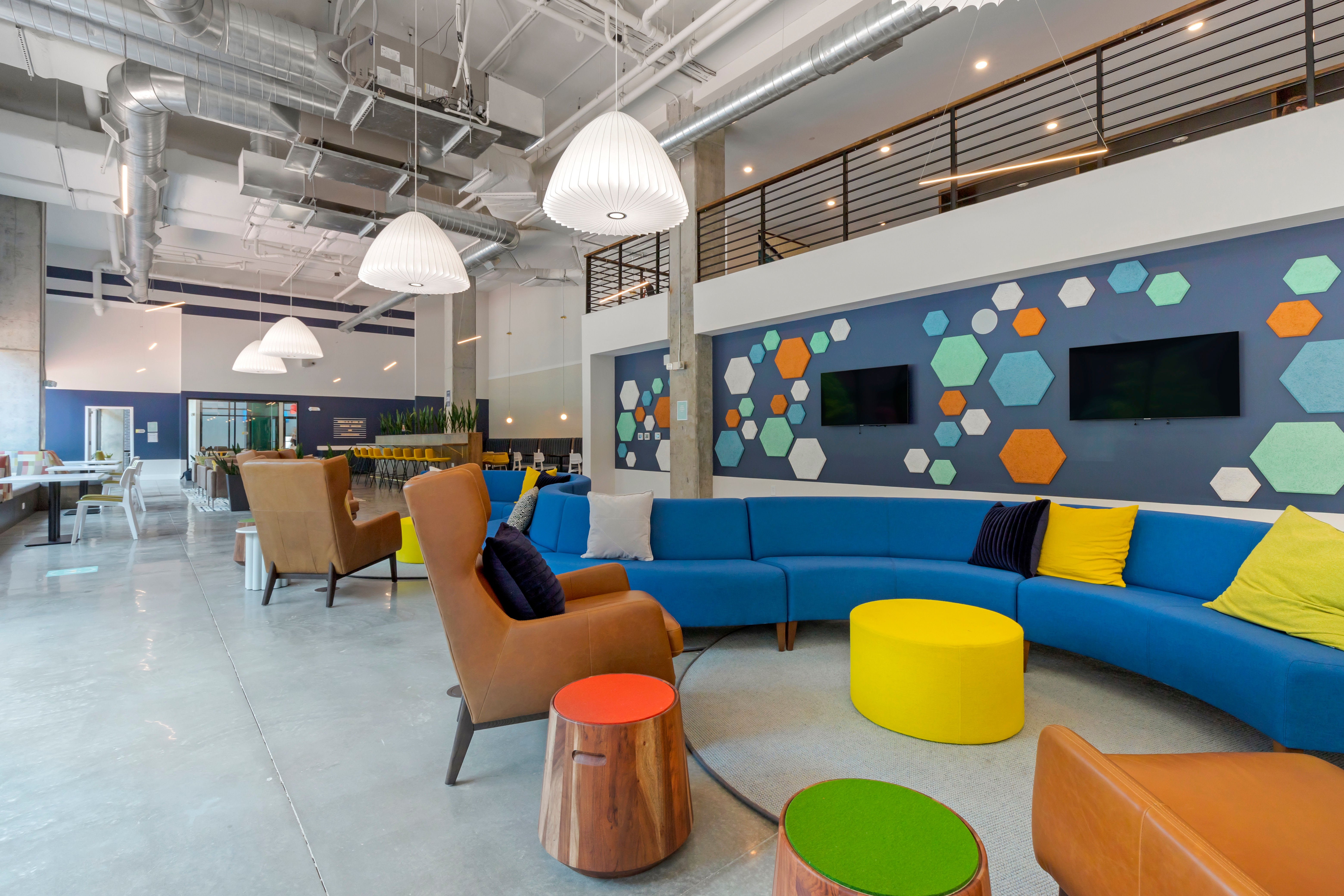 Conversation space at UNCOMMON Raleigh in Raleigh, North Carolina