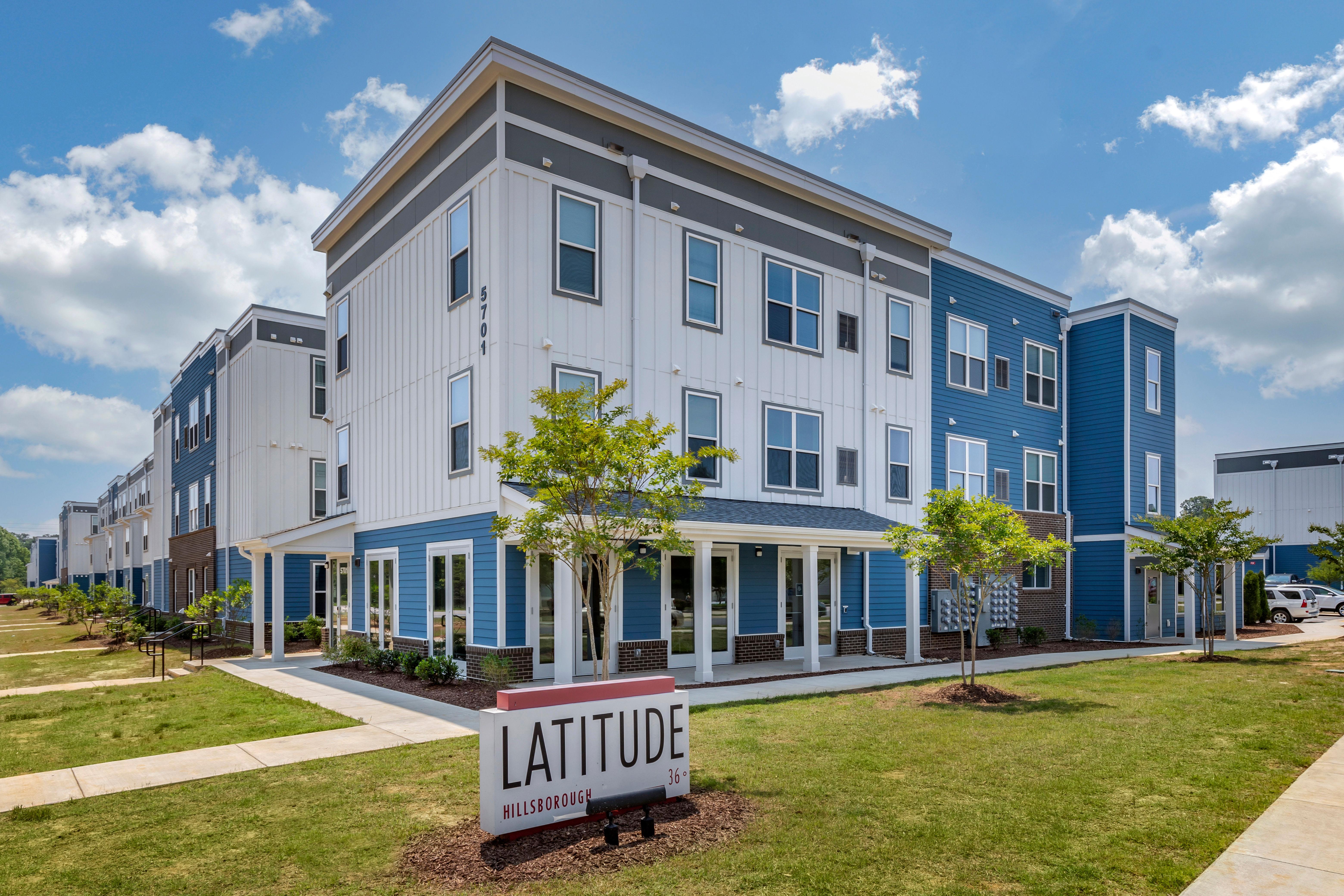 Exterior of LATITUDE on Hillsborough in Raleigh, North Carolina