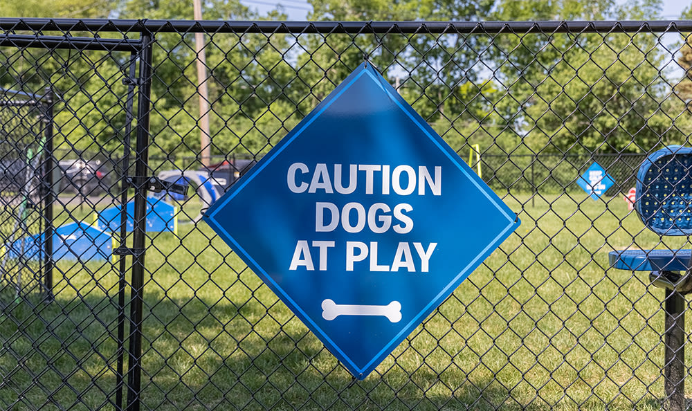 Dog park at Glenbrook Manor in Rochester, New York