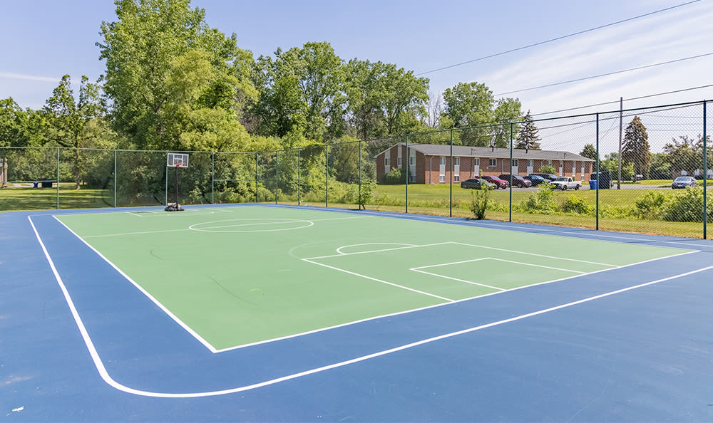 Basketball court at Glenbrook Manor in Rochester, New York