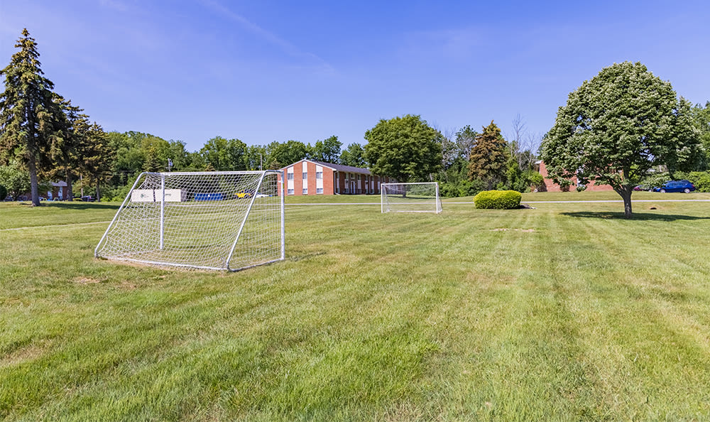 Soccer field at Glenbrook Manor in Rochester, New York
