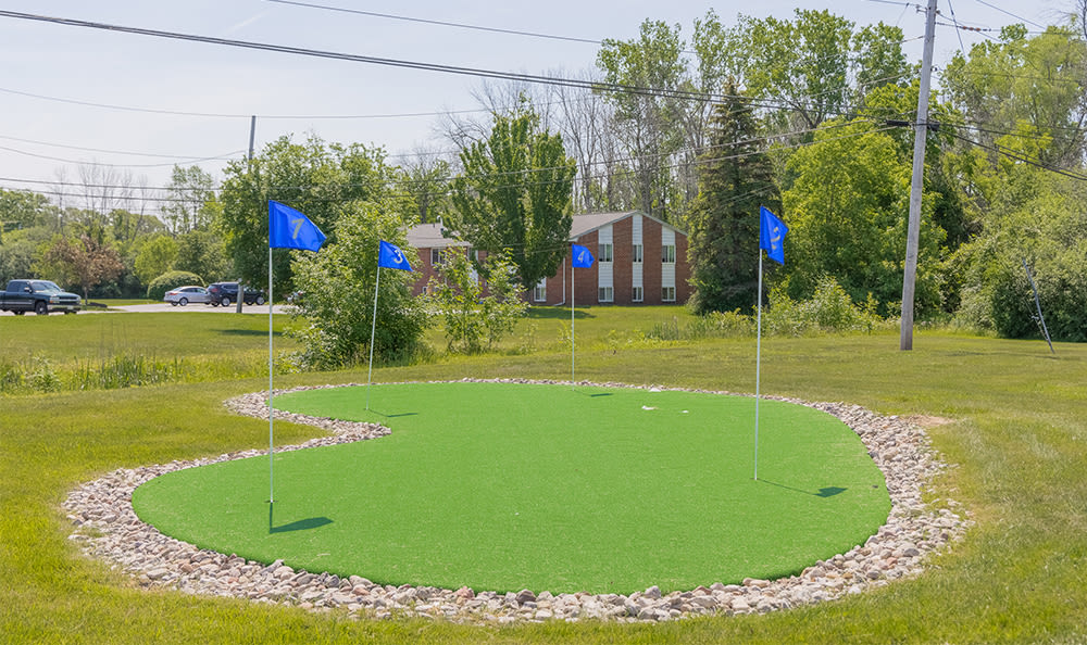 Putting green at Glenbrook Manor in Rochester, New York