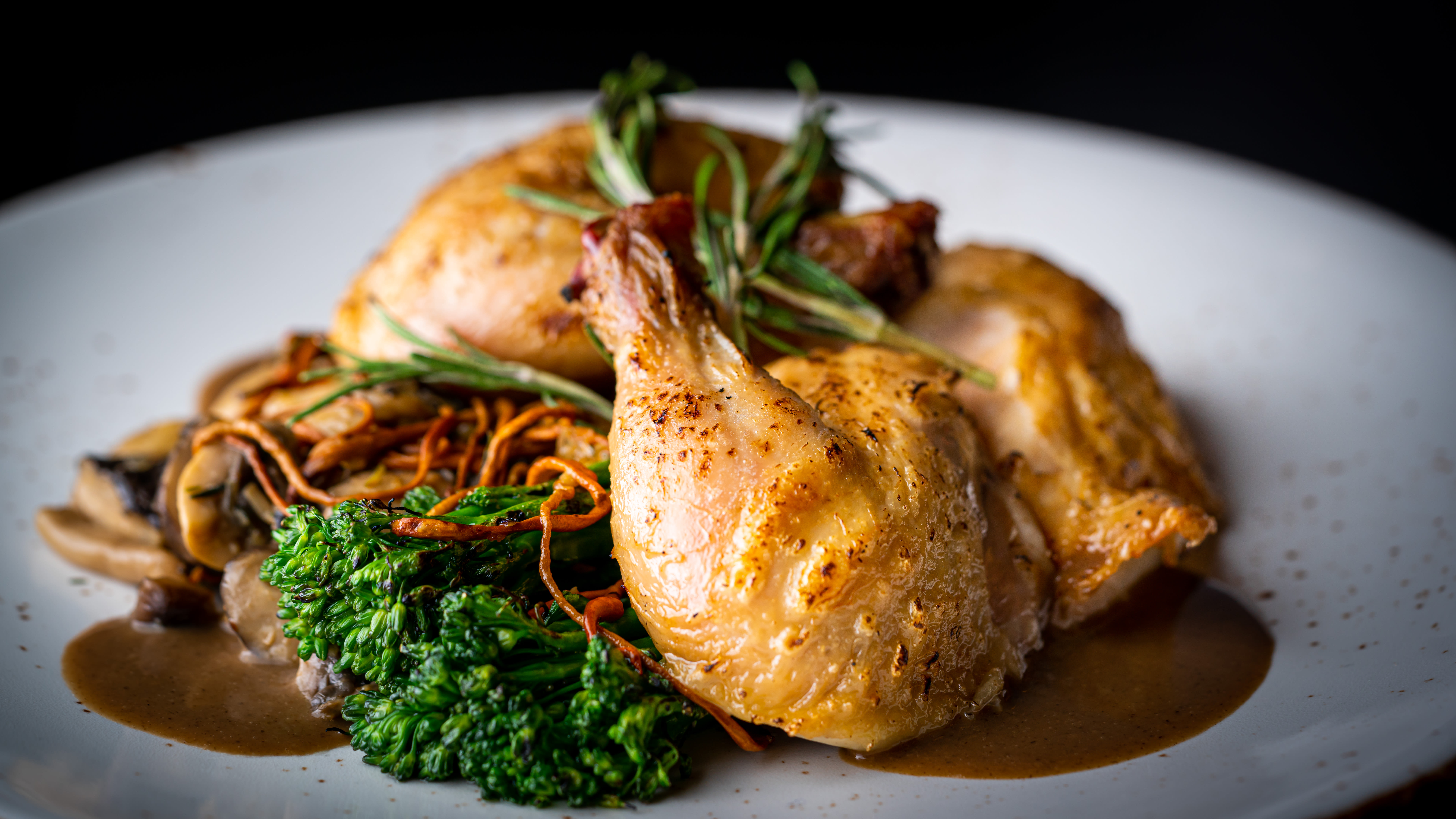 Rustic chicken dish at The Springs at Sunnyview in Salem, Oregon