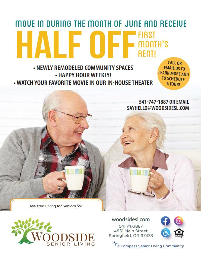 Flyer for Woodside Senior Living