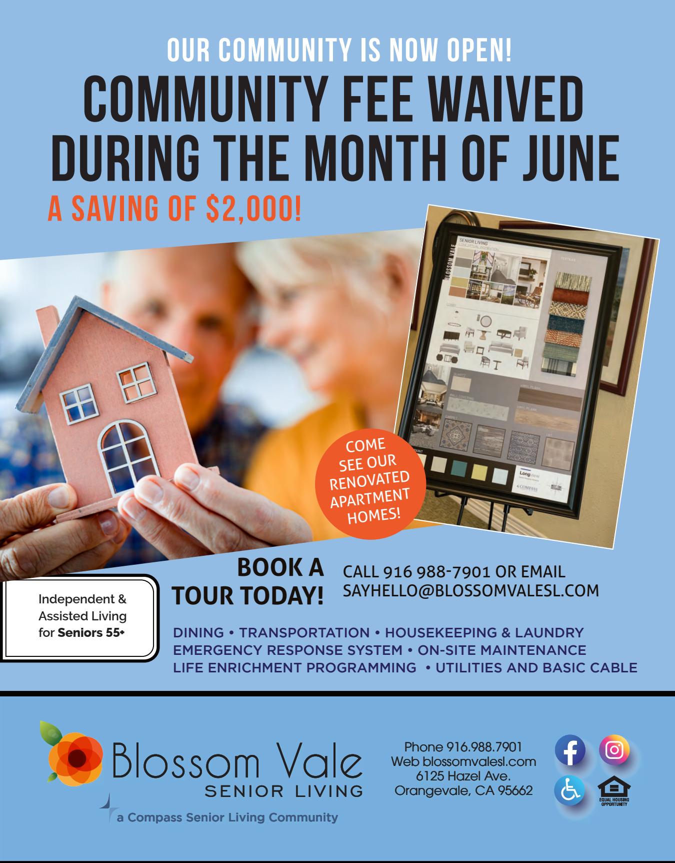 Blossom Vale Senior Living special flyer