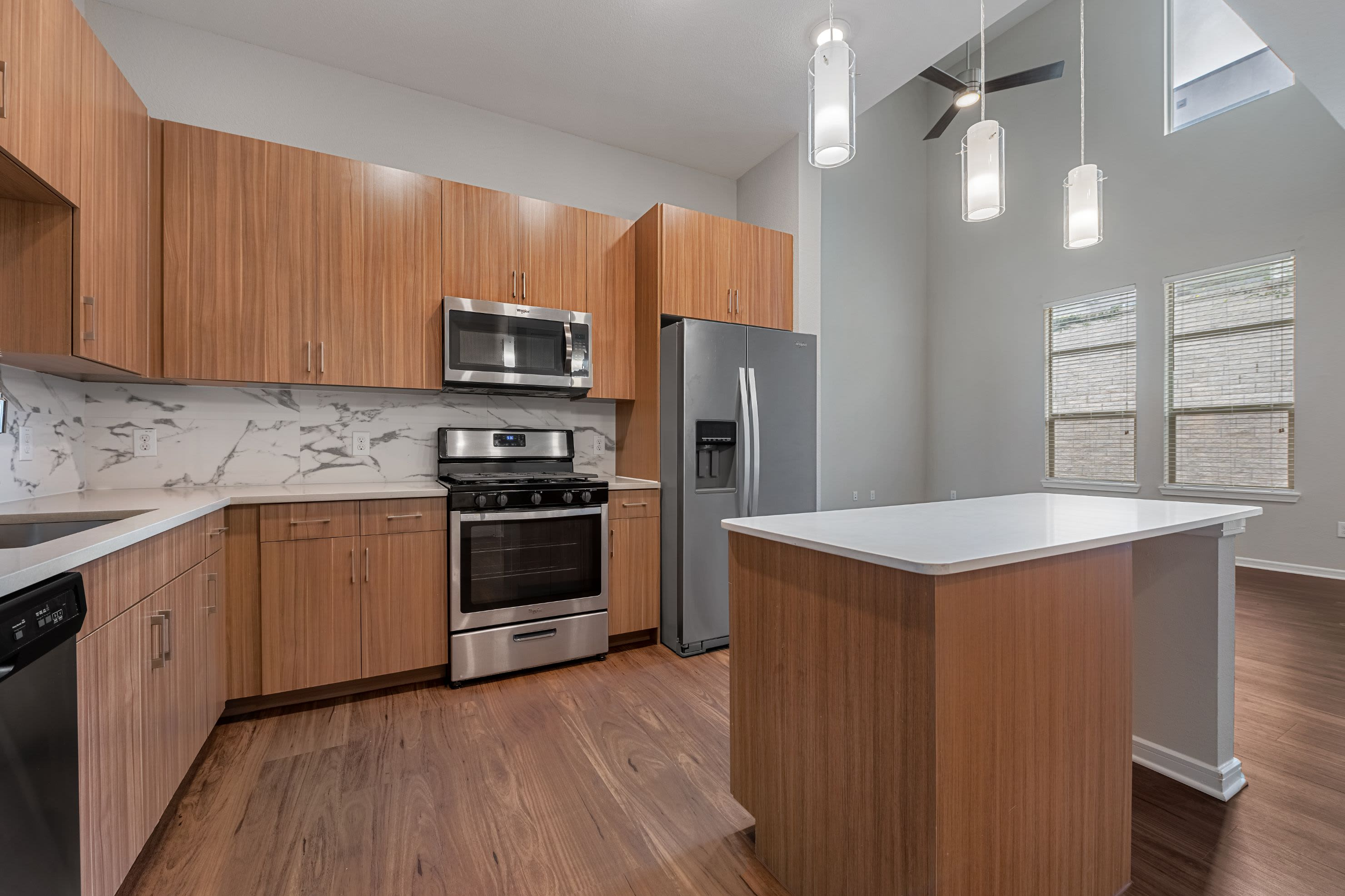 Open and spacious kitchen at Westerly 360 in Austin, Texas