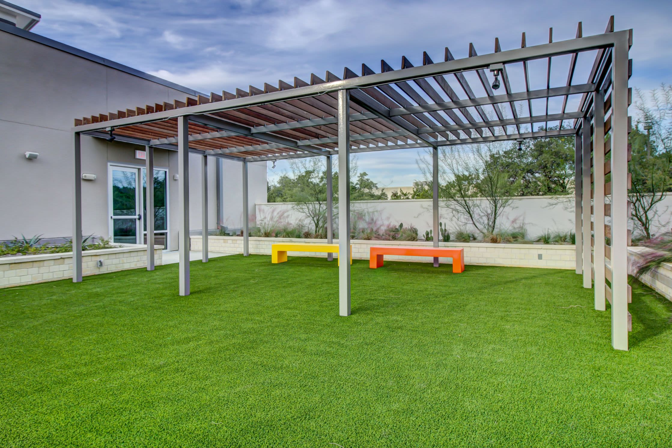 Community park with artificial turf at Westerly 360 in Austin, Texas