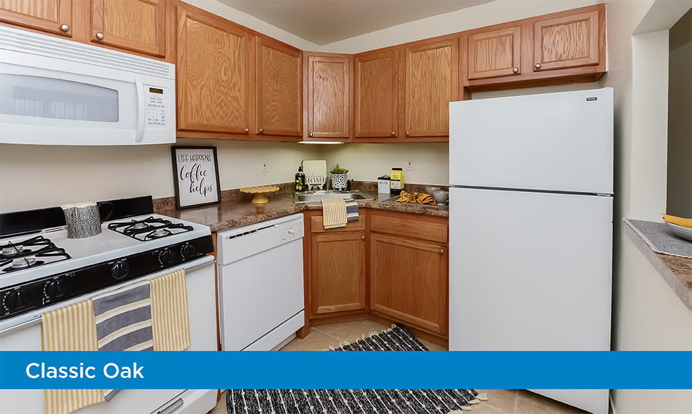Fully-equipped kitchen at Parkview at Collingswood Apartment Homes in Collingswood, New Jersey
