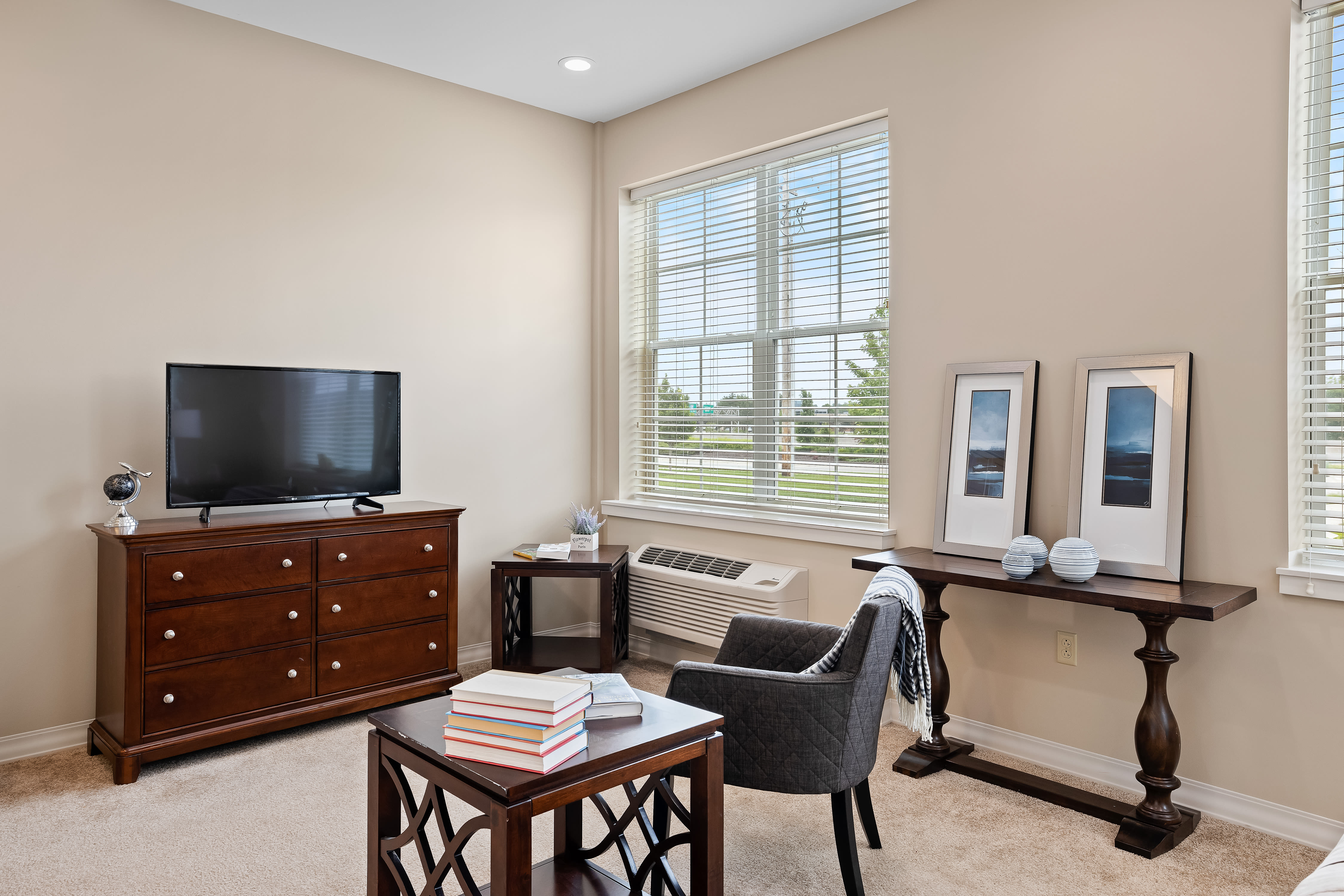 A large resident apartment at Anthology of Overland Park in Overland Park, Kansas.