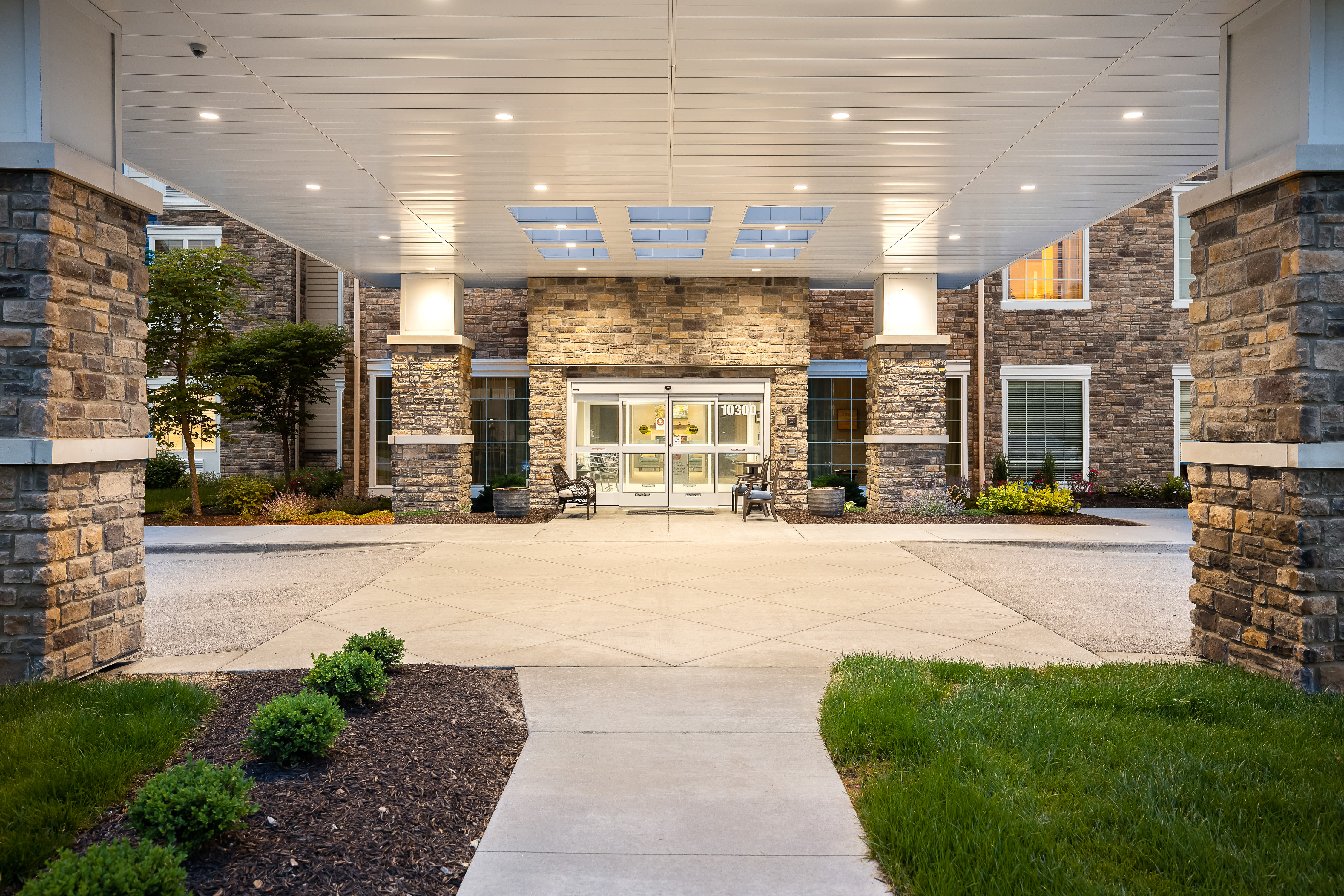A resident patio at Anthology of Overland Park in Overland Park, Kansas