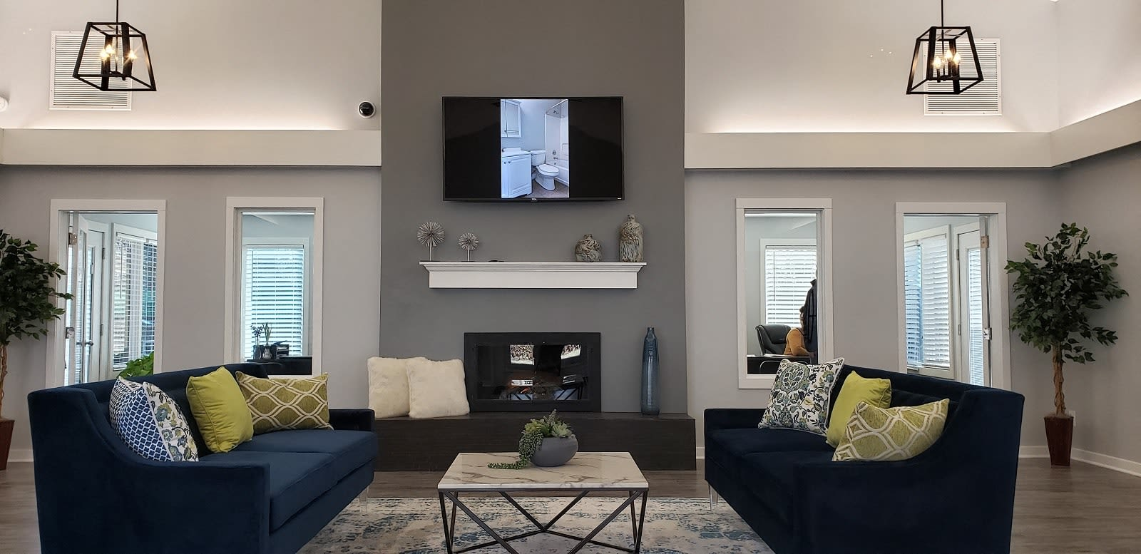 Resident lounge at Brittany Bay Apartments and Townhomes in Groveport, Ohio