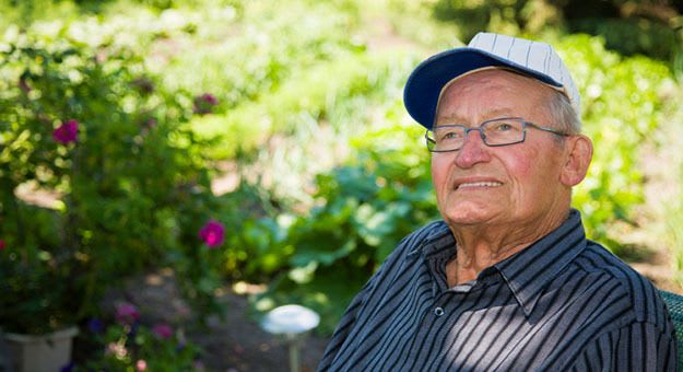 Resident gentlemen in independent living at Avalon Assisted Living Community in Fitchburg, Wisconsin