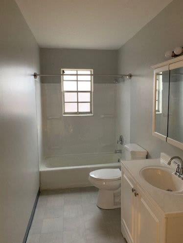 Bathrooms at Andrus Court Apartments in Columbus, Ohio