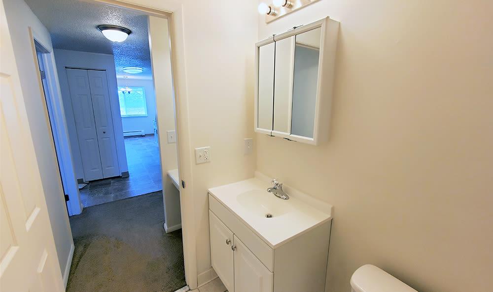 Bathroom at Hilton Village II in Hilton, New York
