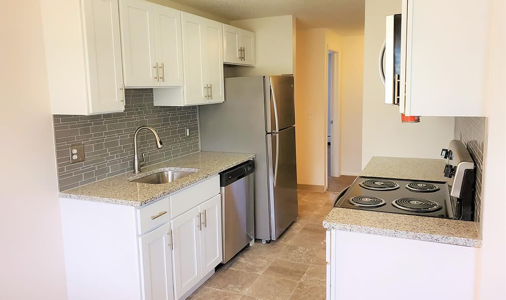 Modern kitchen at Hilton Village II in Hilton, New York