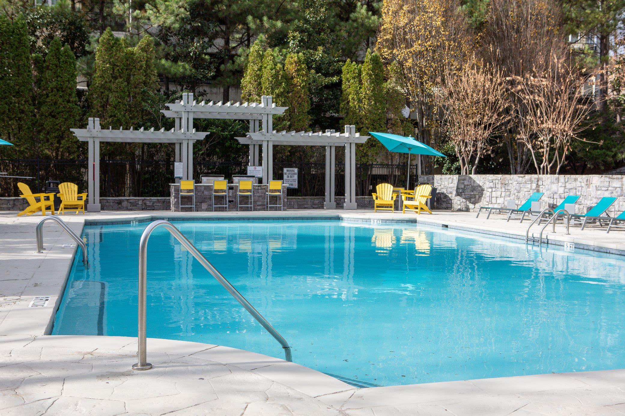 Sparkling community pool at Marq Perimeter in Atlanta, Georgia