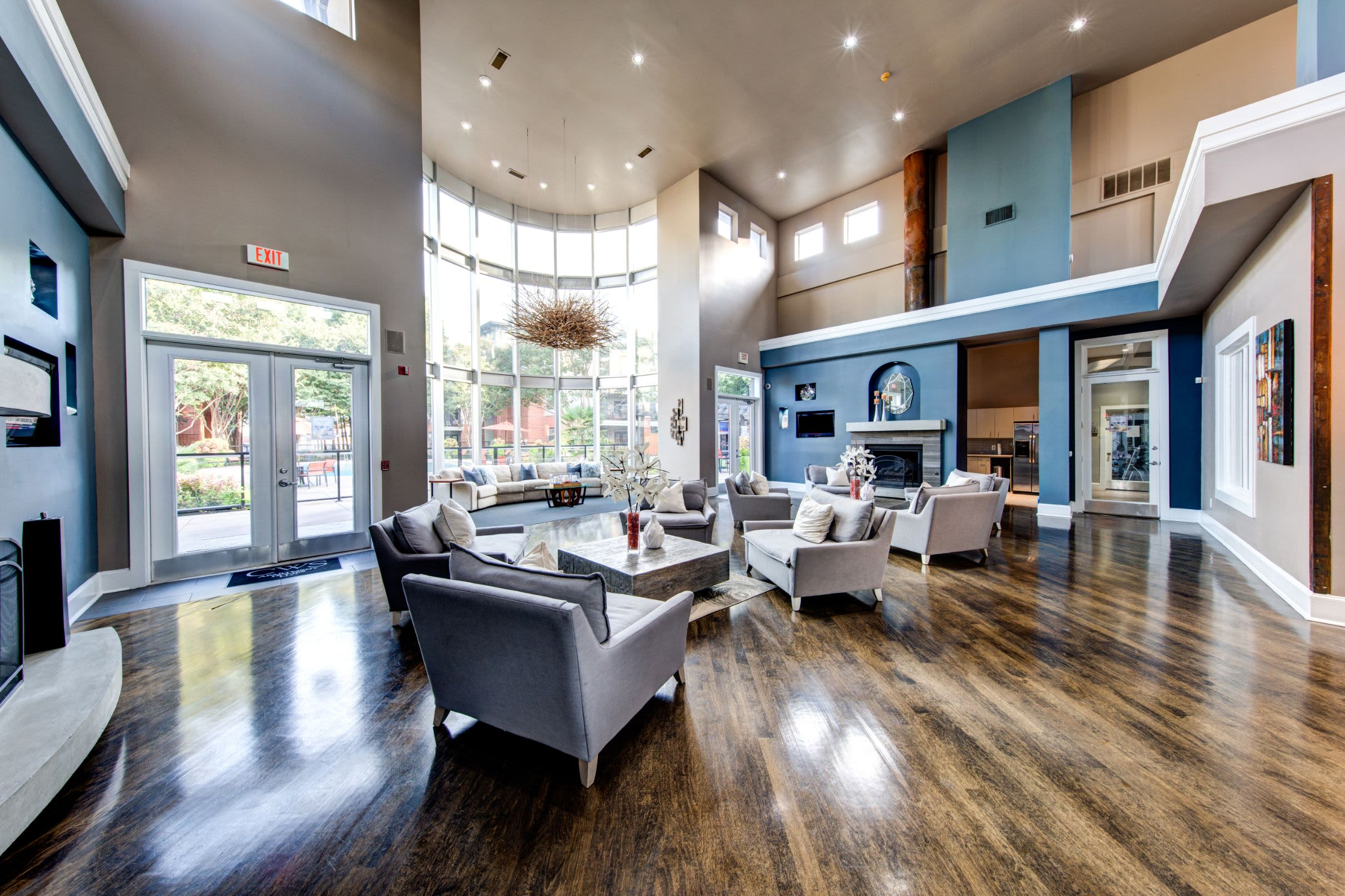 Spacious and bright clubhouse at Marquis on Gaston in Dallas, Texas