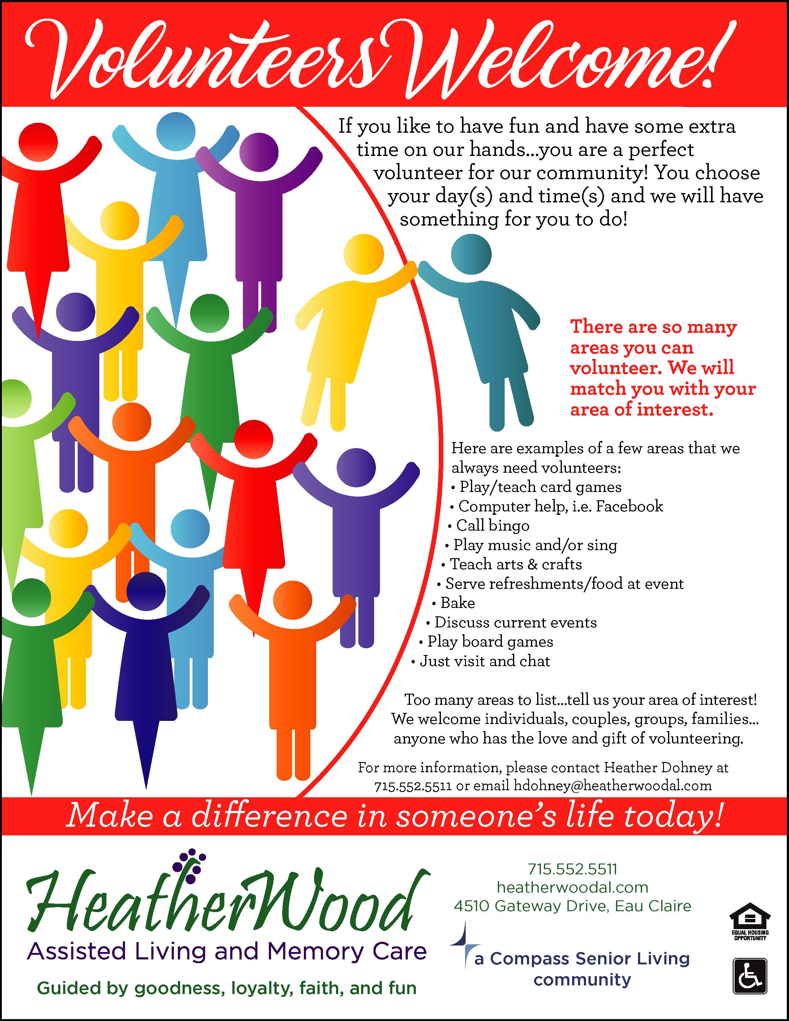 Volunteers Welcome Flyer