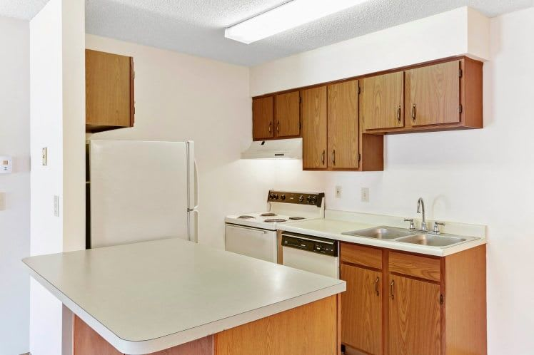 A view of the kitchen at Waterford Harbour in Groveport, Ohio