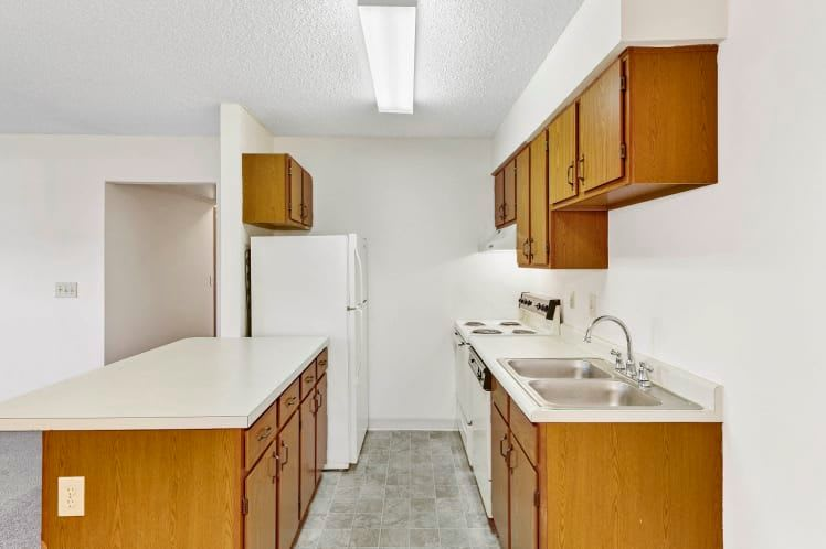 A galley style kitchen at Waterford Harbour in Groveport, Ohio
