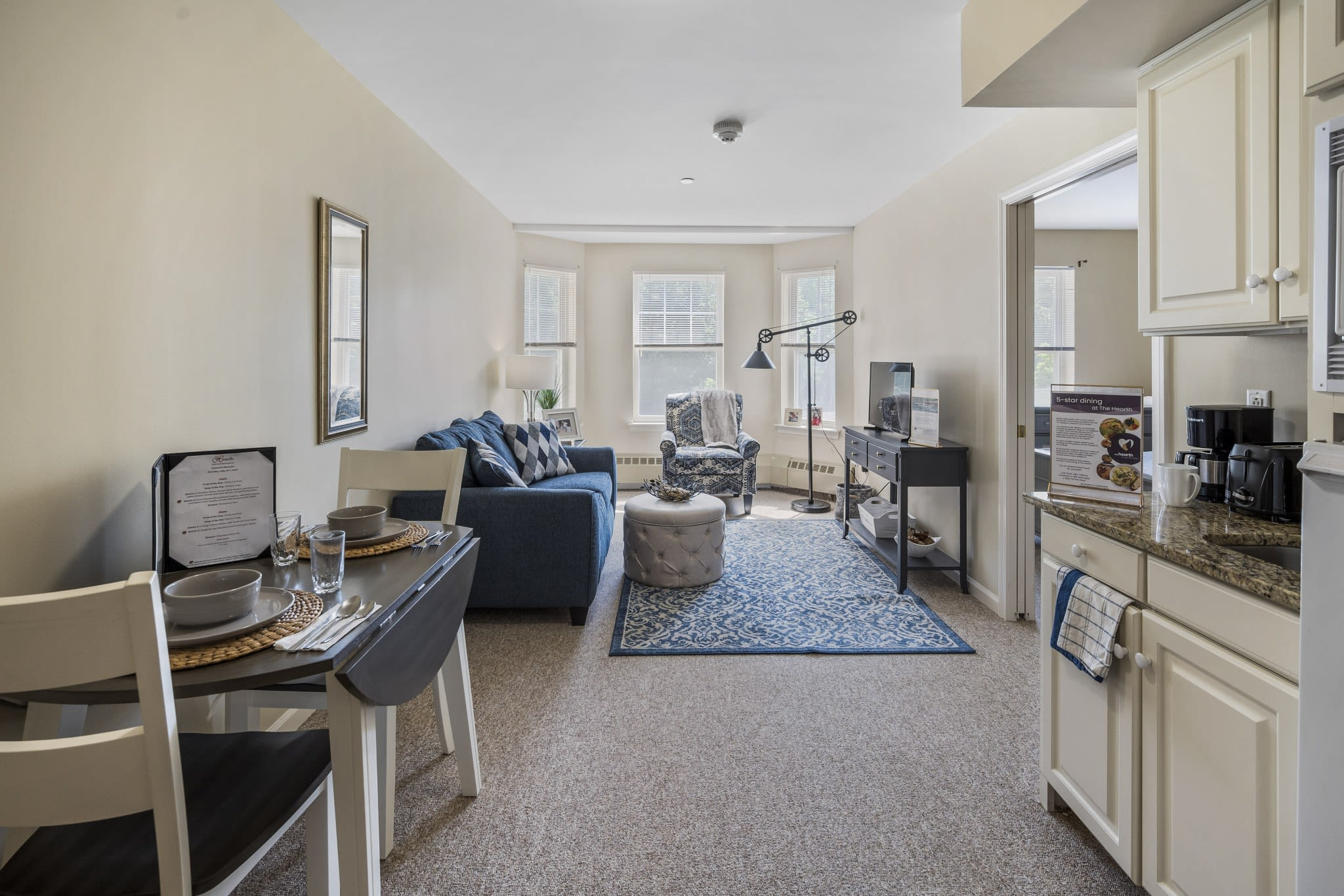 Senior apartment The Hearth at Gardenside in Branford, Connecticut