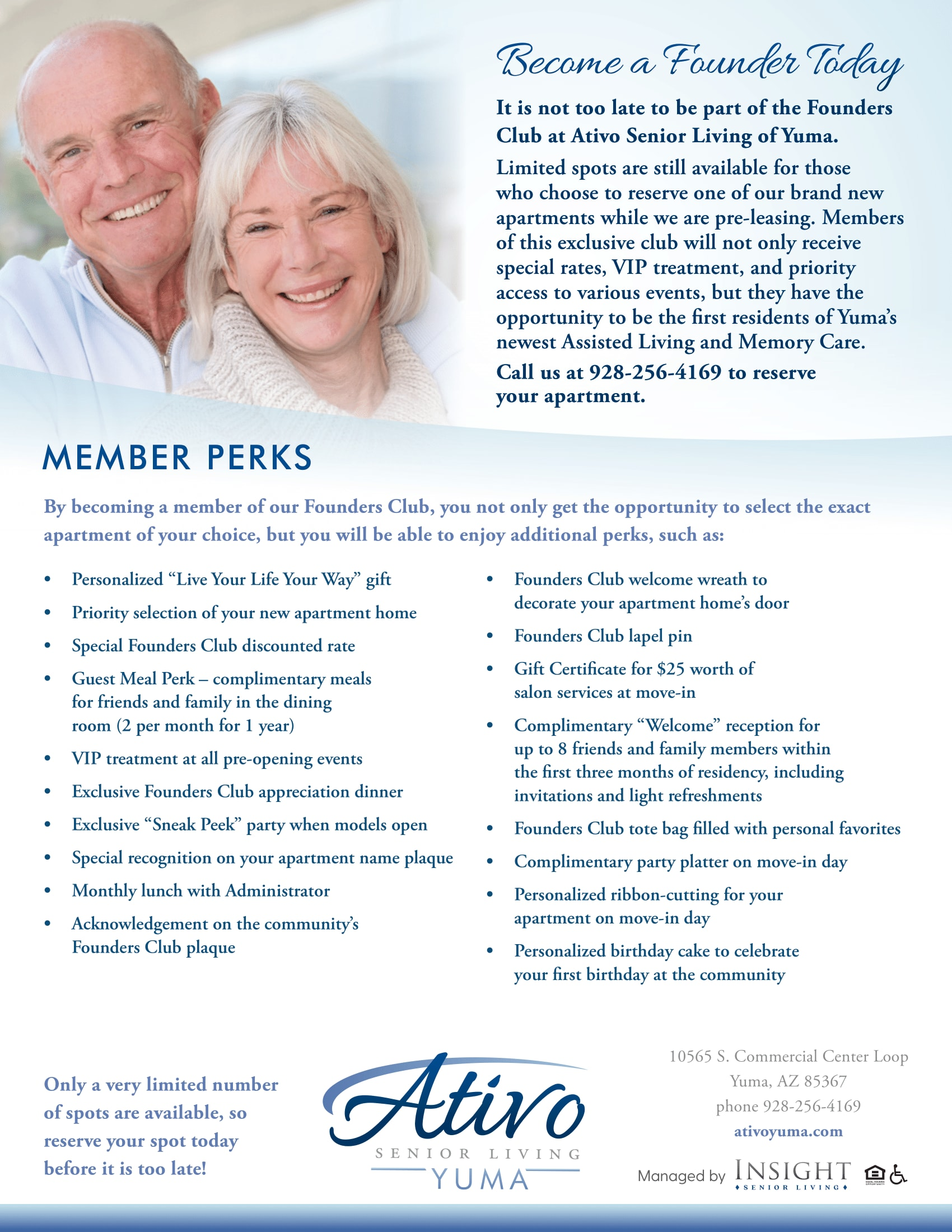Flyer about Founder's Club