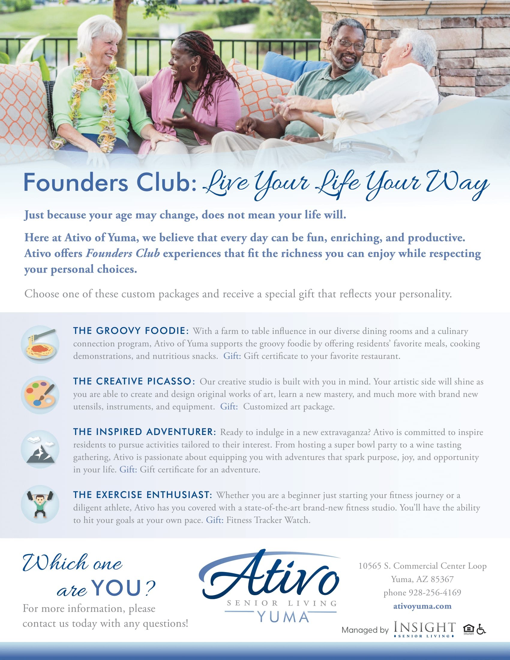 A second flyer about Founder's Club