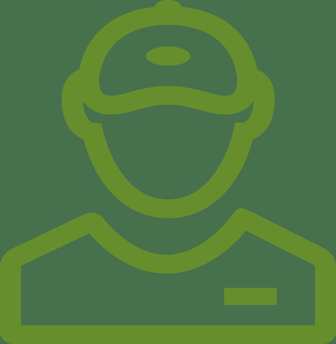 Icon of customer service person