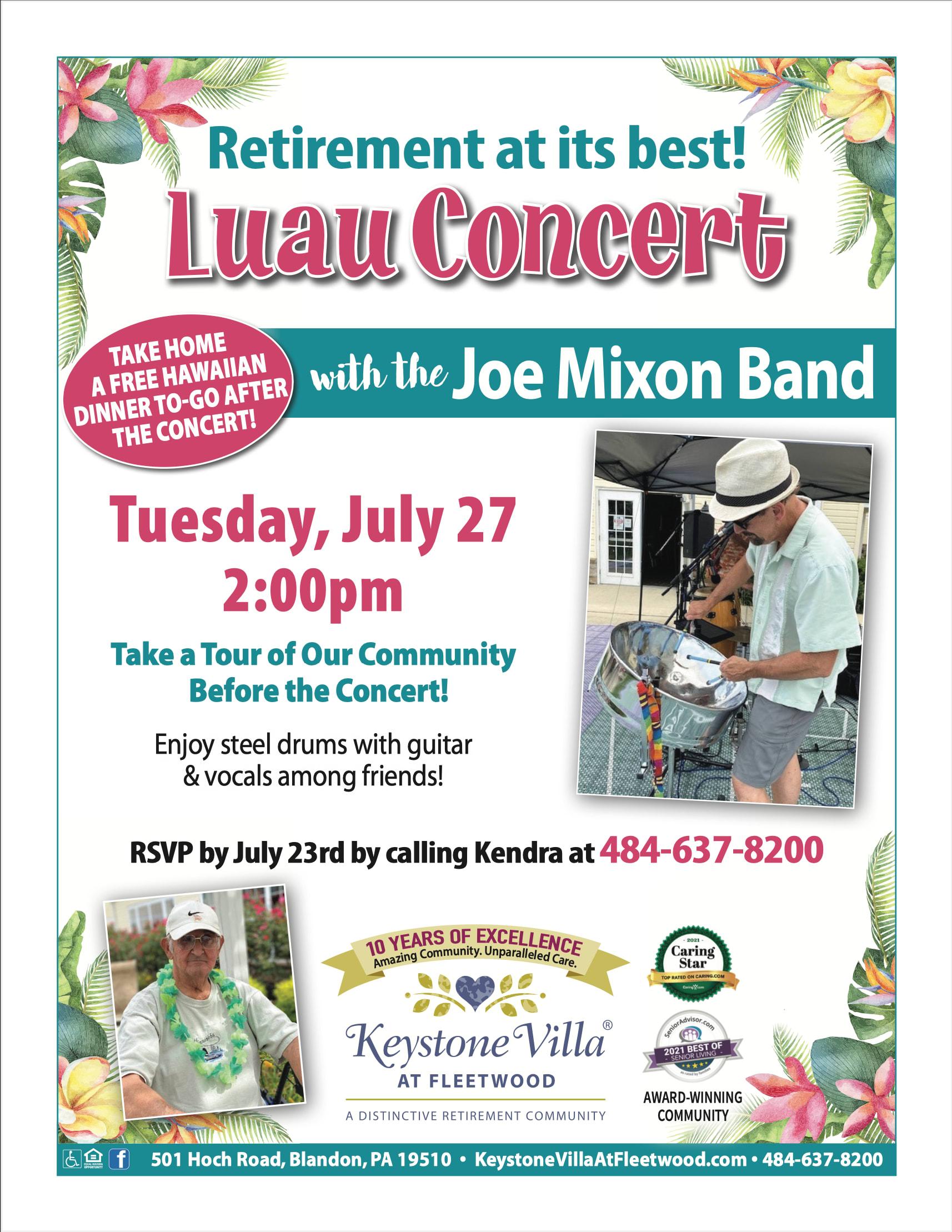 Luau Concert Flyer